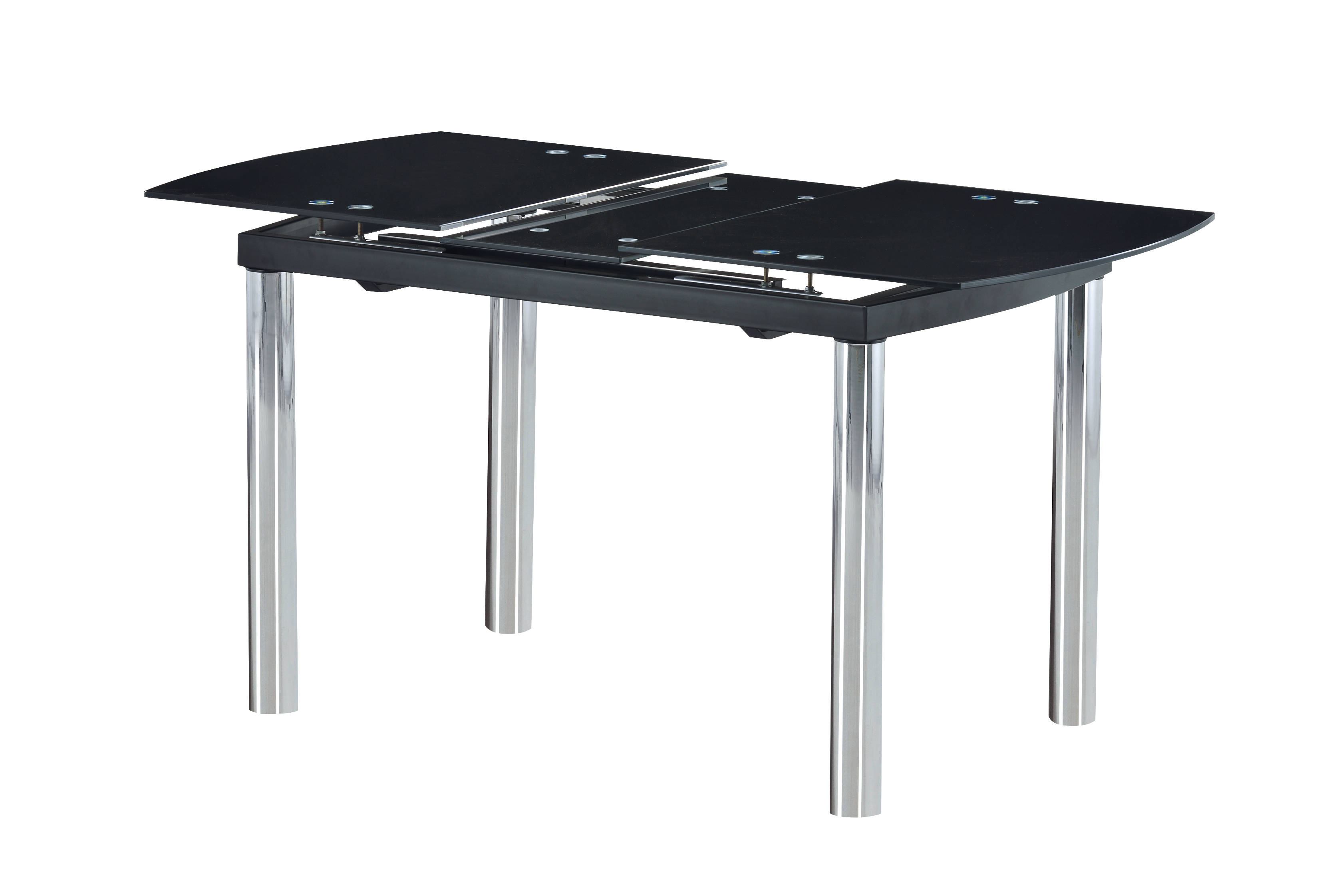Global Furniture D30 Chrome Black Dining Table The Cly Home