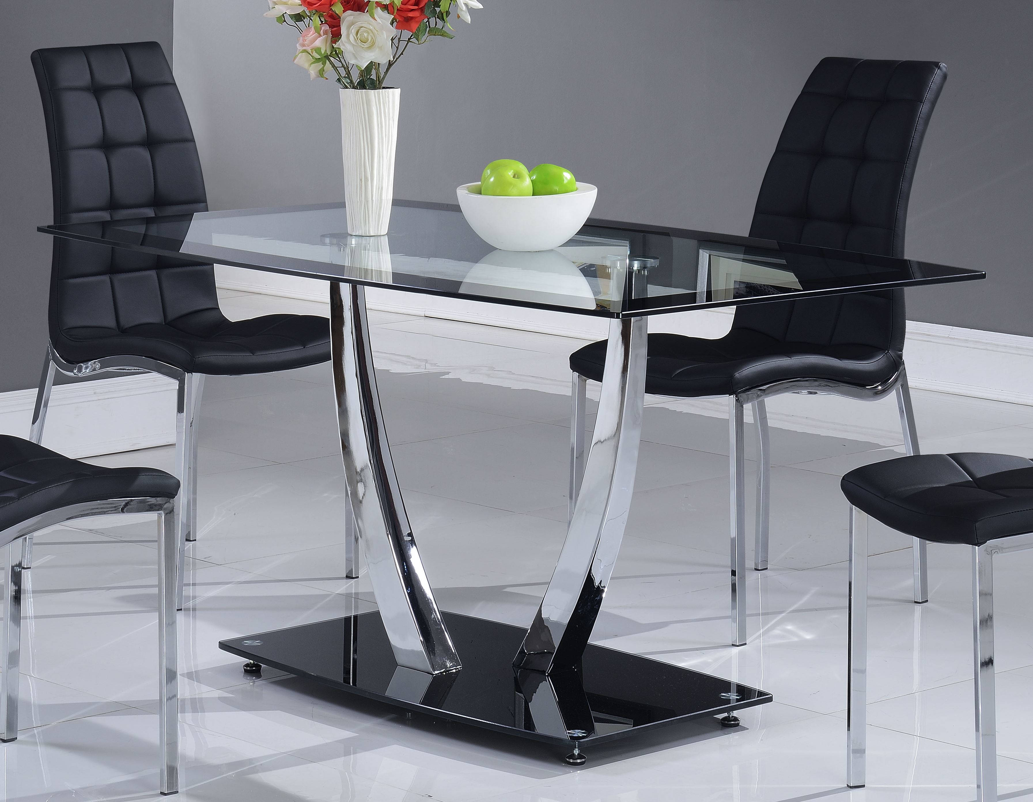 Global Furniture D716 Black Dining Table Click To Enlarge