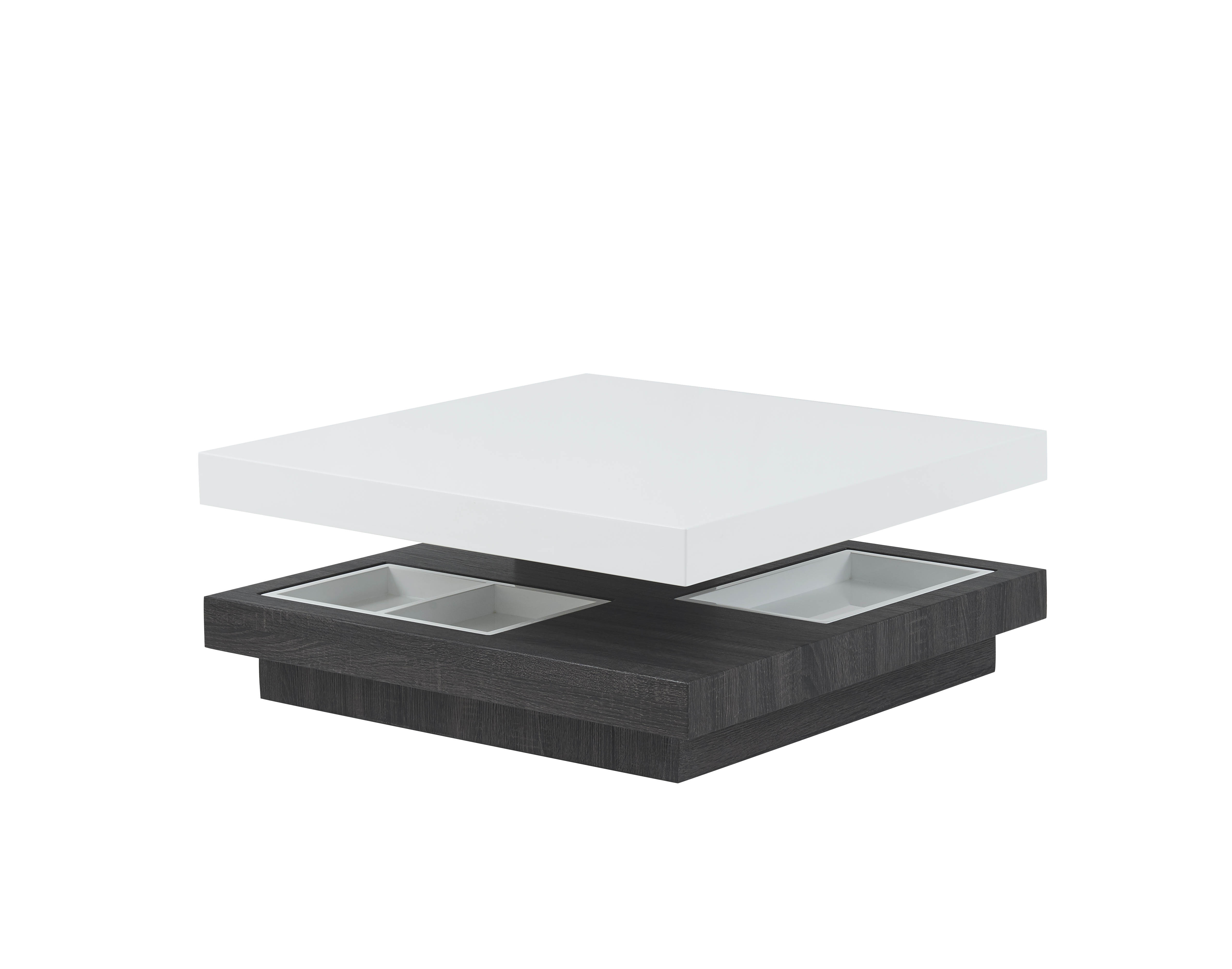 Furniture T53 White Grey Coffee Table