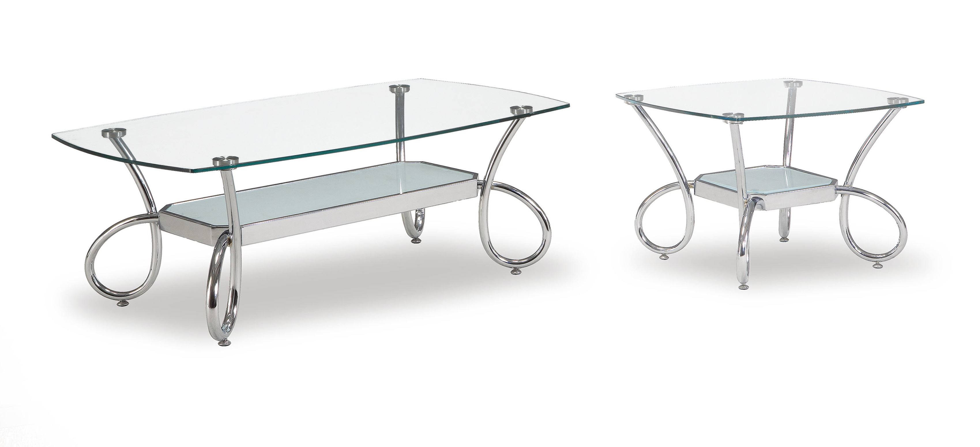 Global Furniture T559 Silver 3pc Coffee Table Set