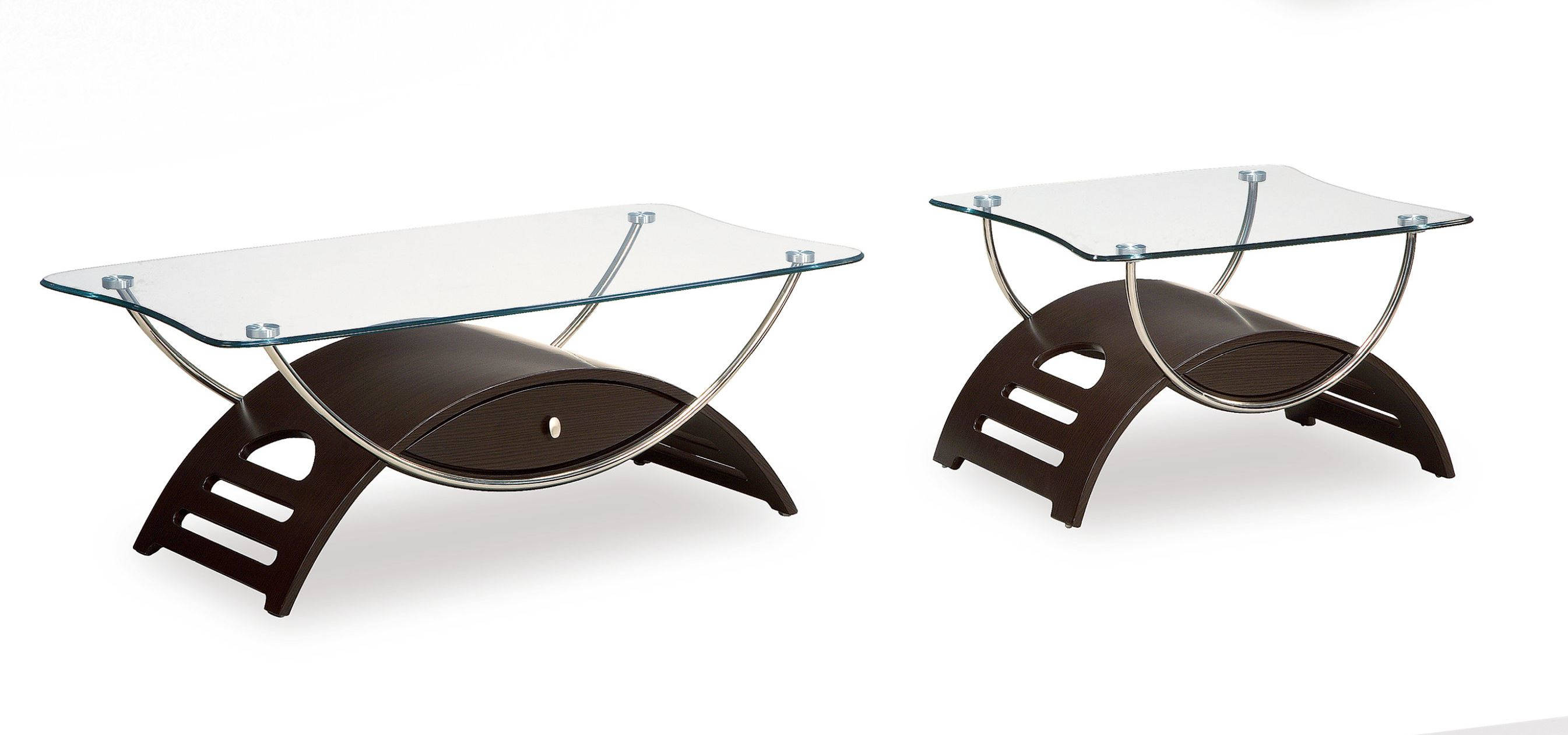 Global Furniture T63 Wenge 3pc Coffee Table Set The Cly
