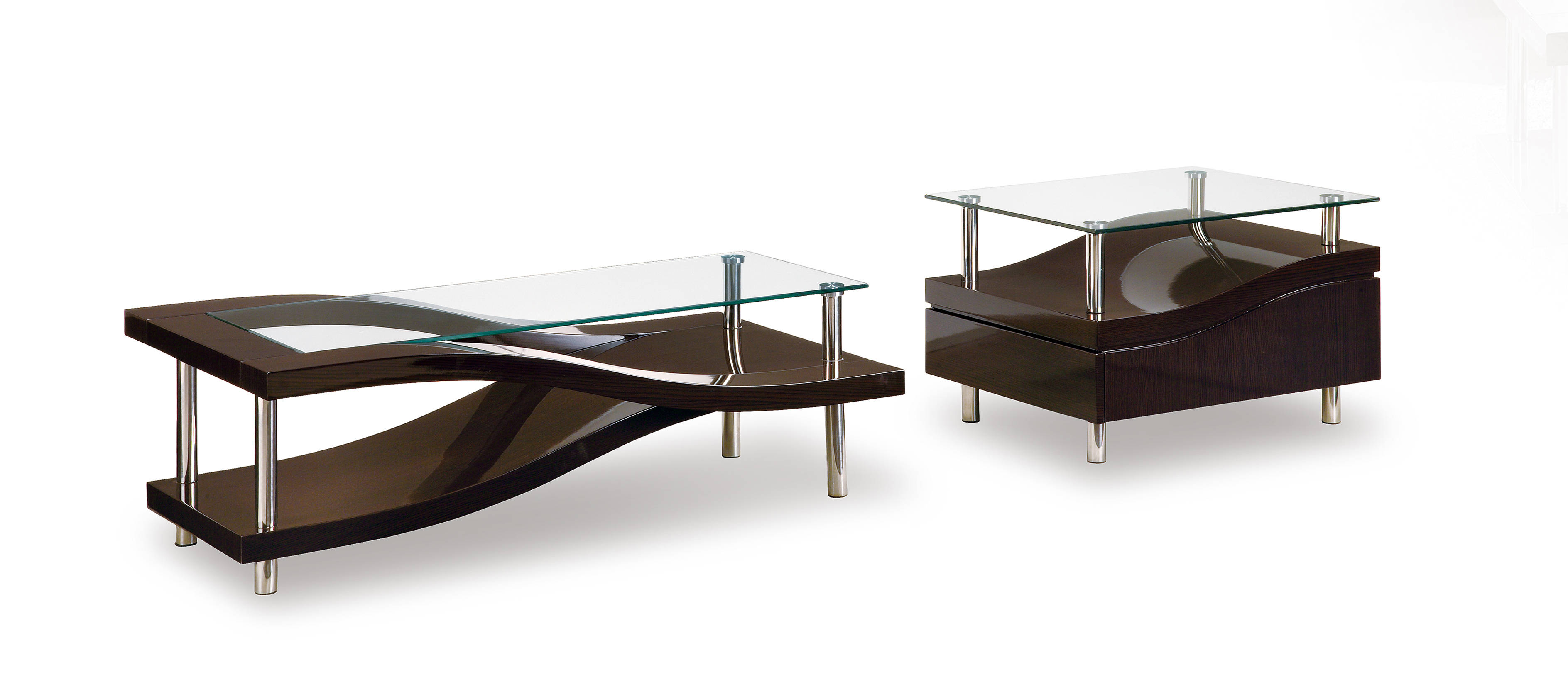 Global Furniture T759 Wenge 3pc Coffee Table Set The