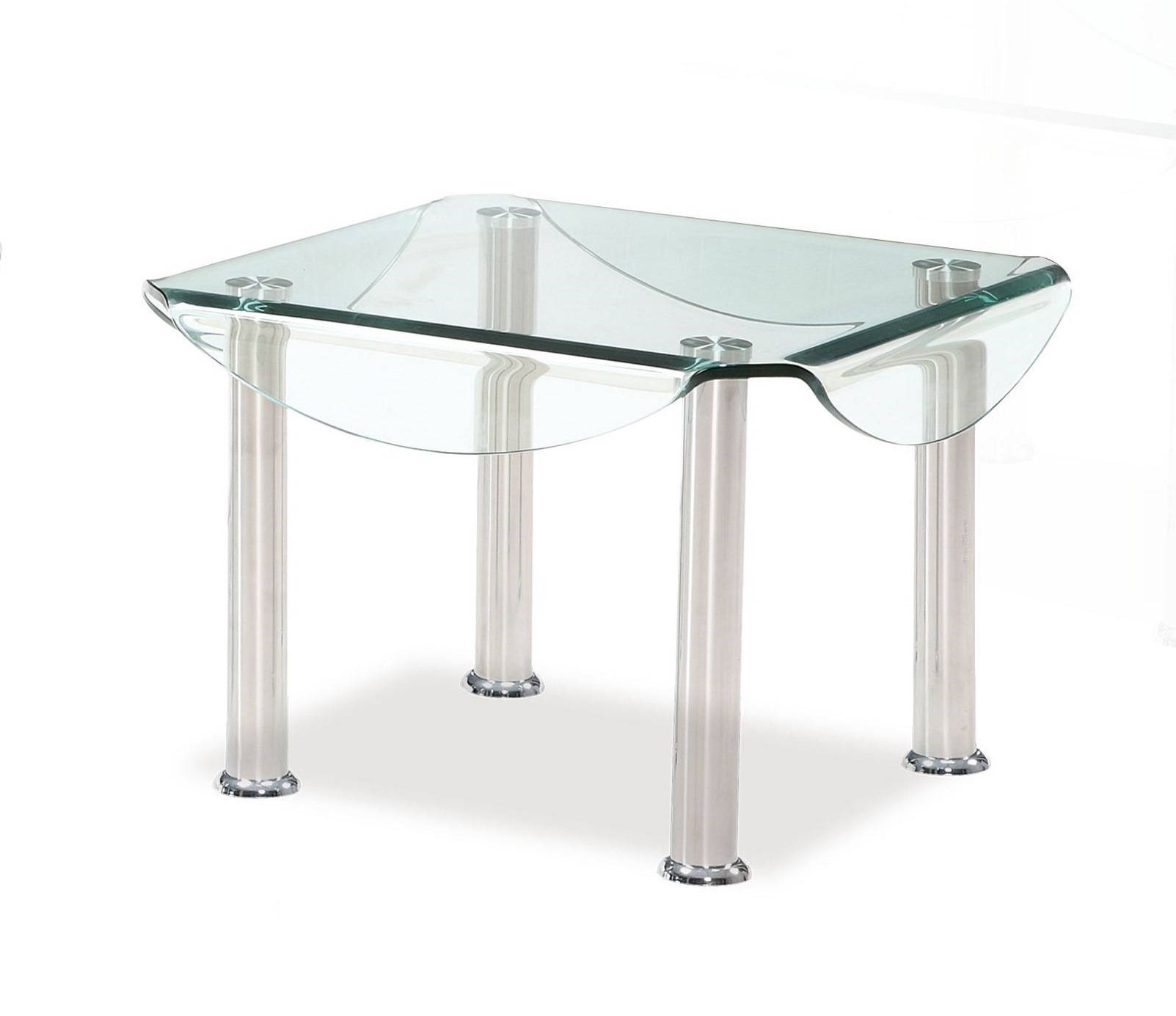Silver Gl Metal Legs Square End Table The Cly Home