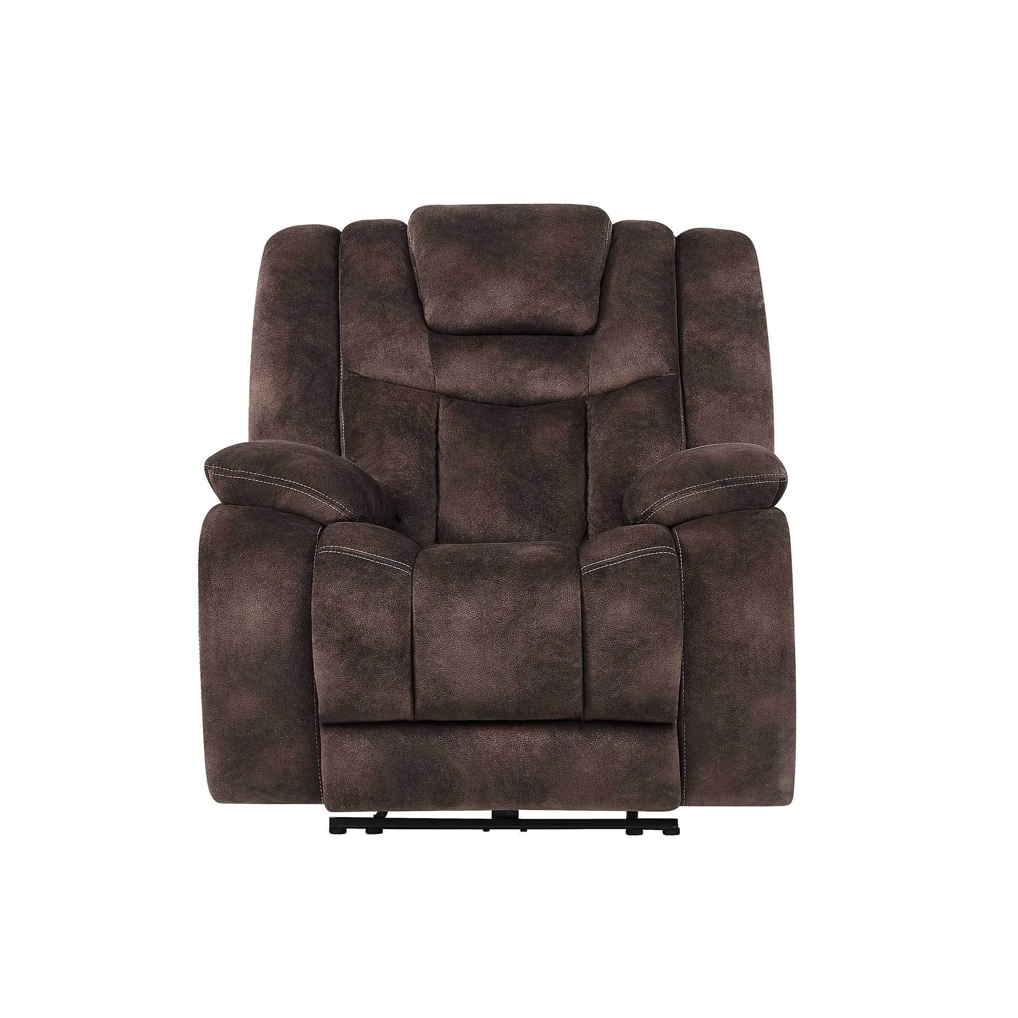Stupendous Global Furniture U1706 Agnes Espresso Fabric Power Recliner Ocoug Best Dining Table And Chair Ideas Images Ocougorg