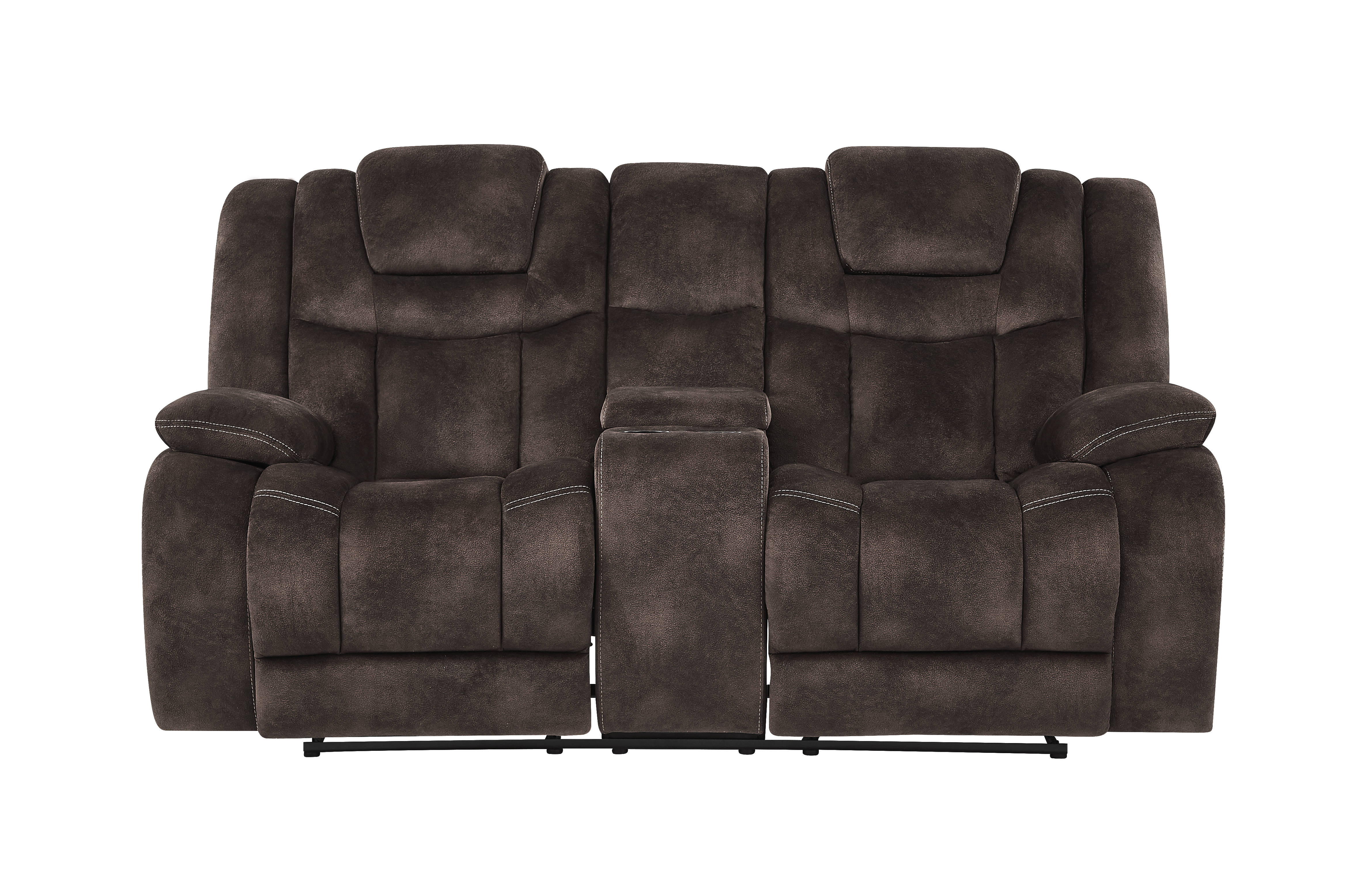 Tremendous Global Furniture U1706 Chocolate Fabric Power Reclining Loveseat Ocoug Best Dining Table And Chair Ideas Images Ocougorg