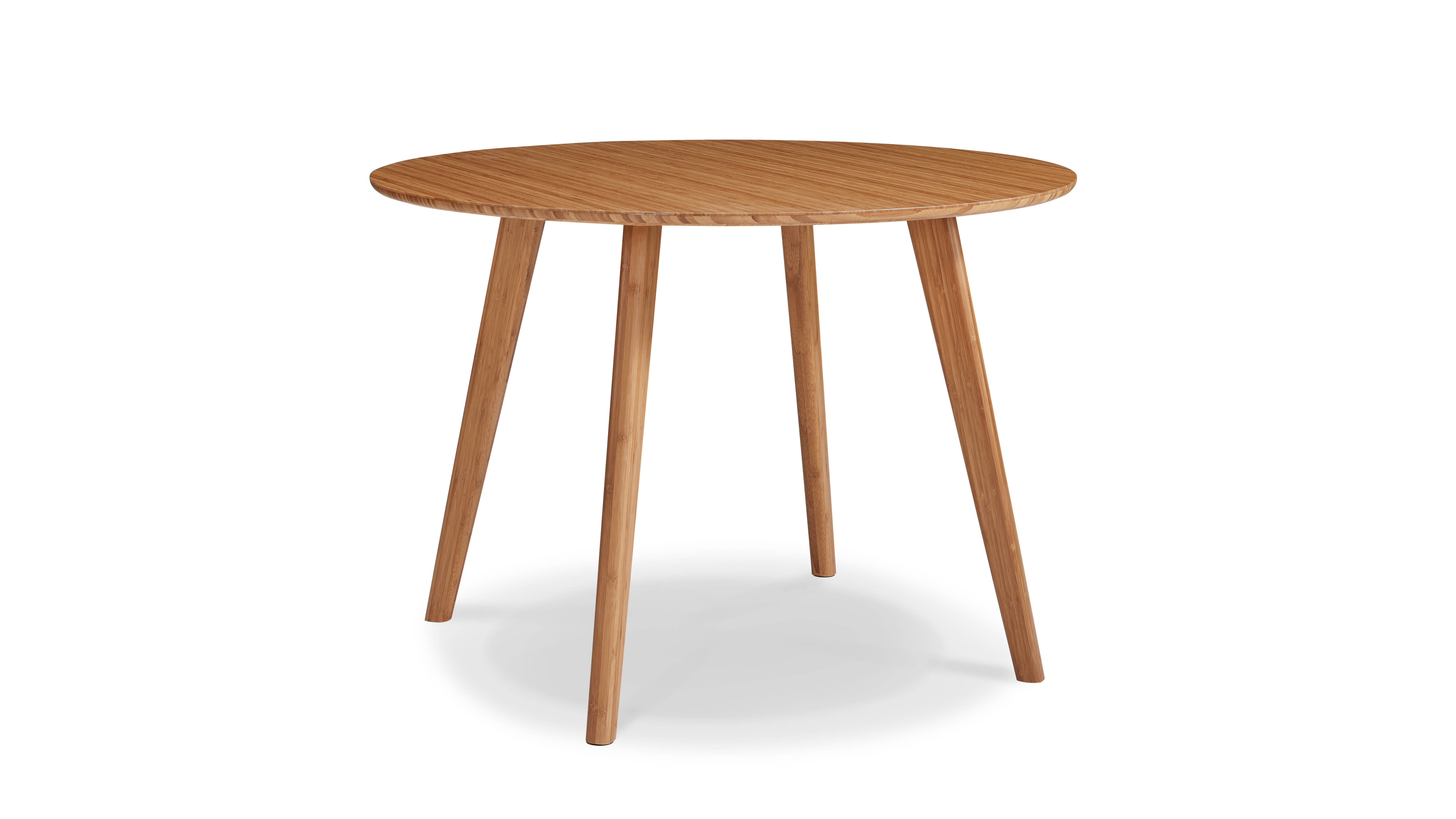 Greenington Currant Modern Caramelized Bamboo 42 Inch Round Dining