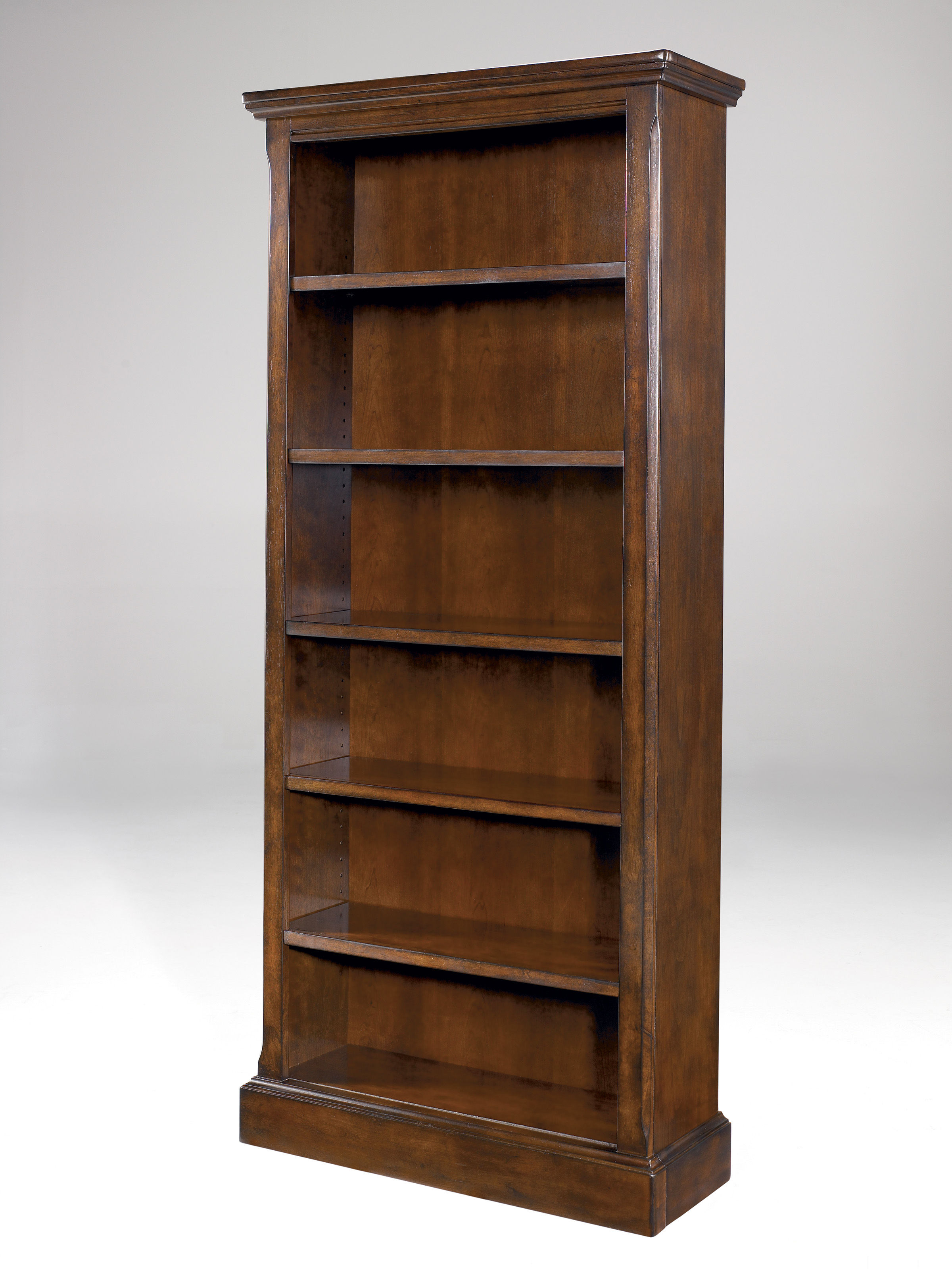 Porter Traditional Brown Wood Large Bookcase W Adjustable