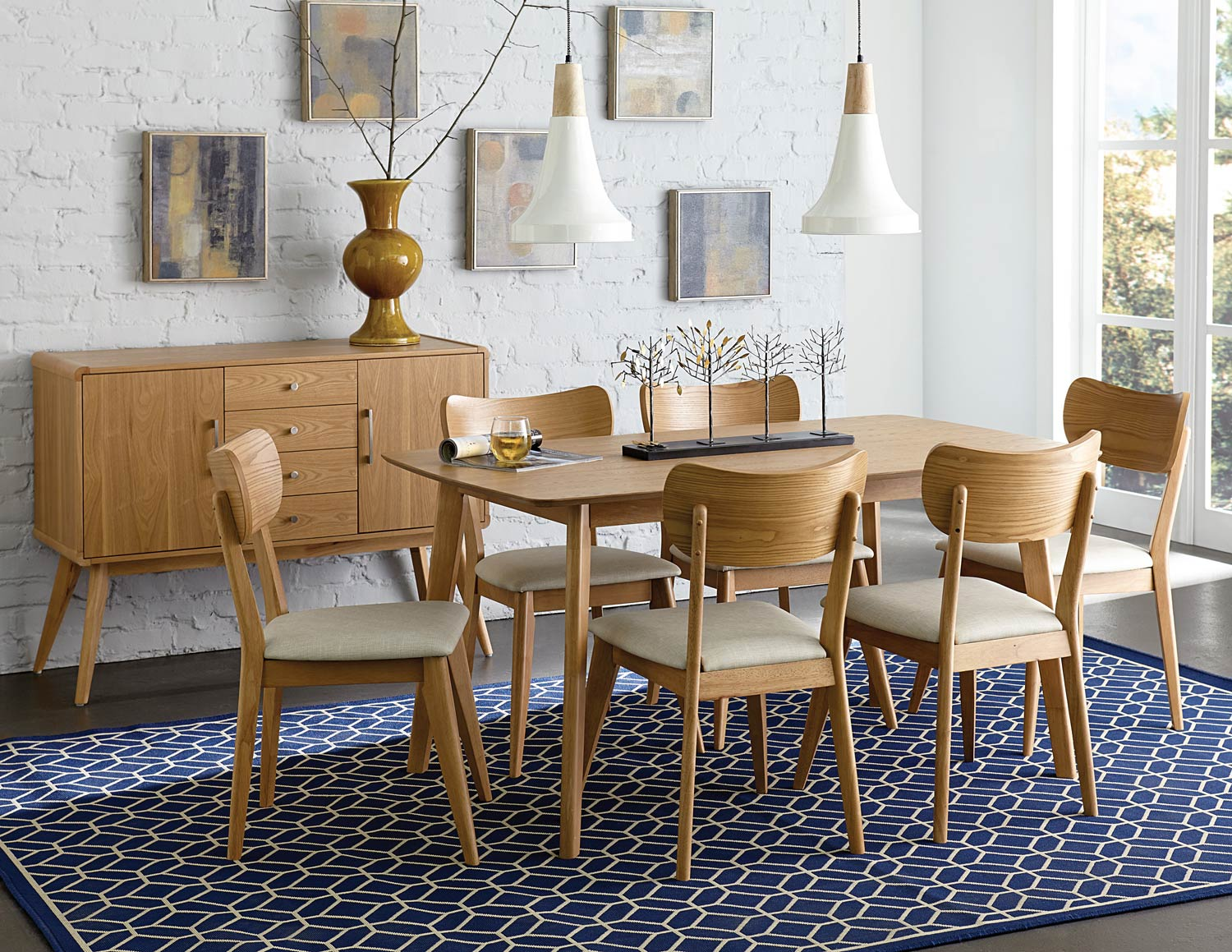 ... 7pc Dining Room Set Click To Enlarge ... & Home Elegance Anika Ash 7pc Dining Room Set | The Classy Home