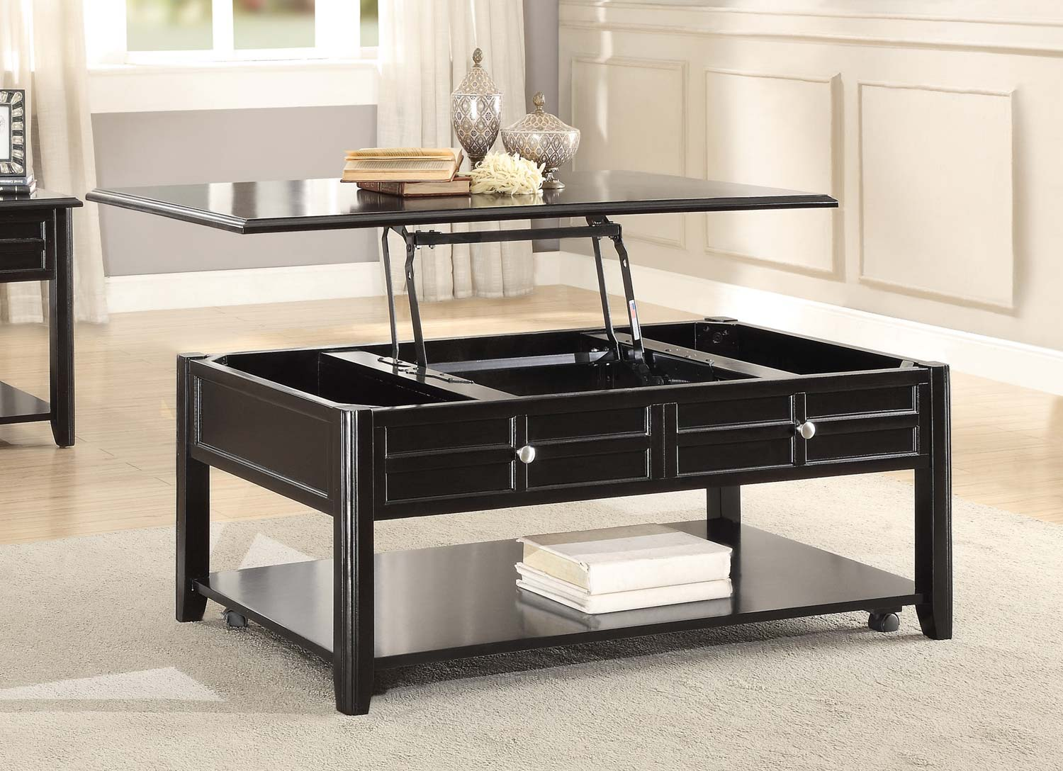 Enjoyable Home Elegance Carrier Cocktail Table With Lift Top On Casters Cjindustries Chair Design For Home Cjindustriesco