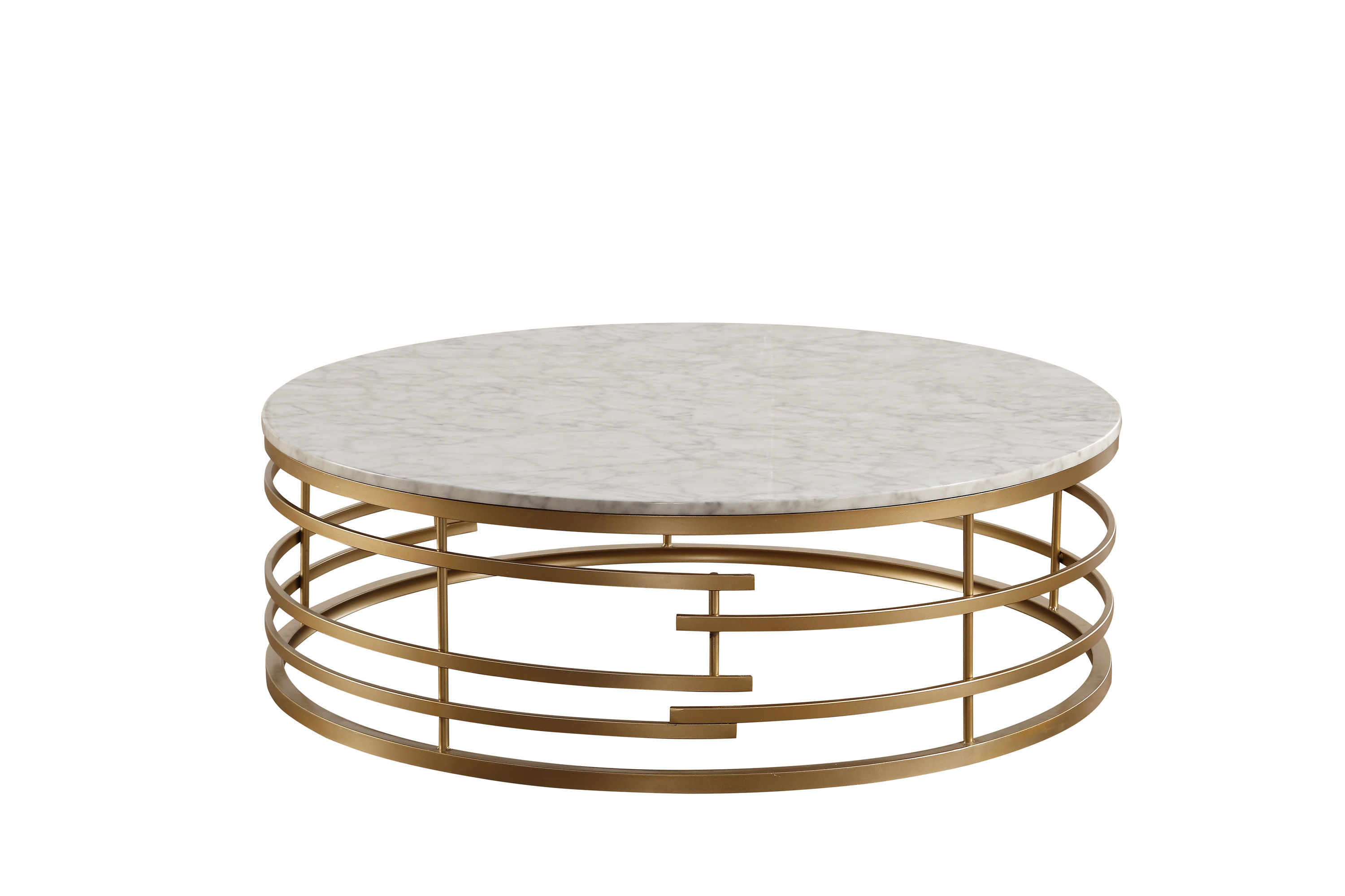 Home Elegance Brassica Gold Round Coffee Table