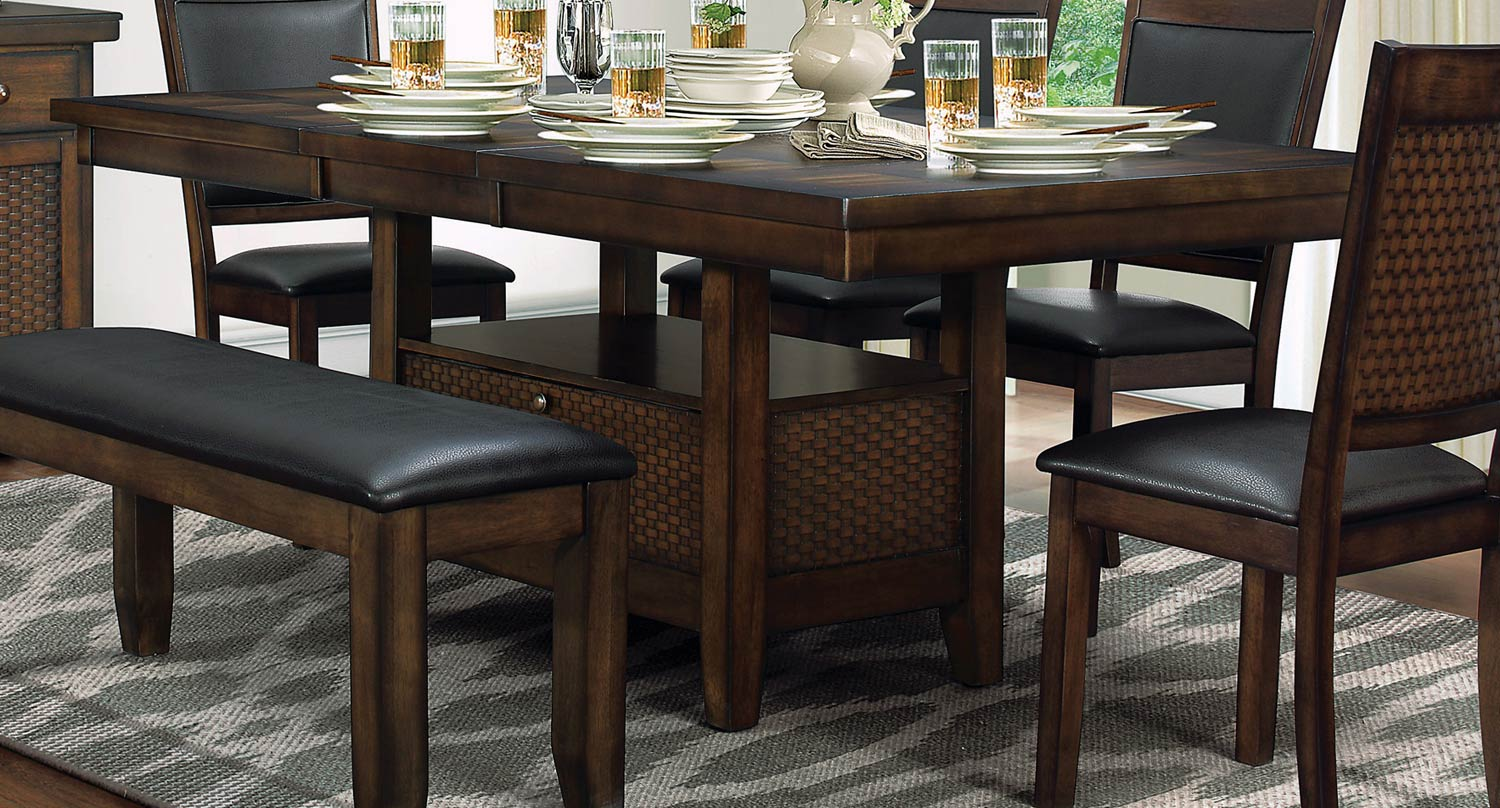 dining table with storage Home Elegance Wickham Dining Table with Storage Base | The Classy Home dining table with storage