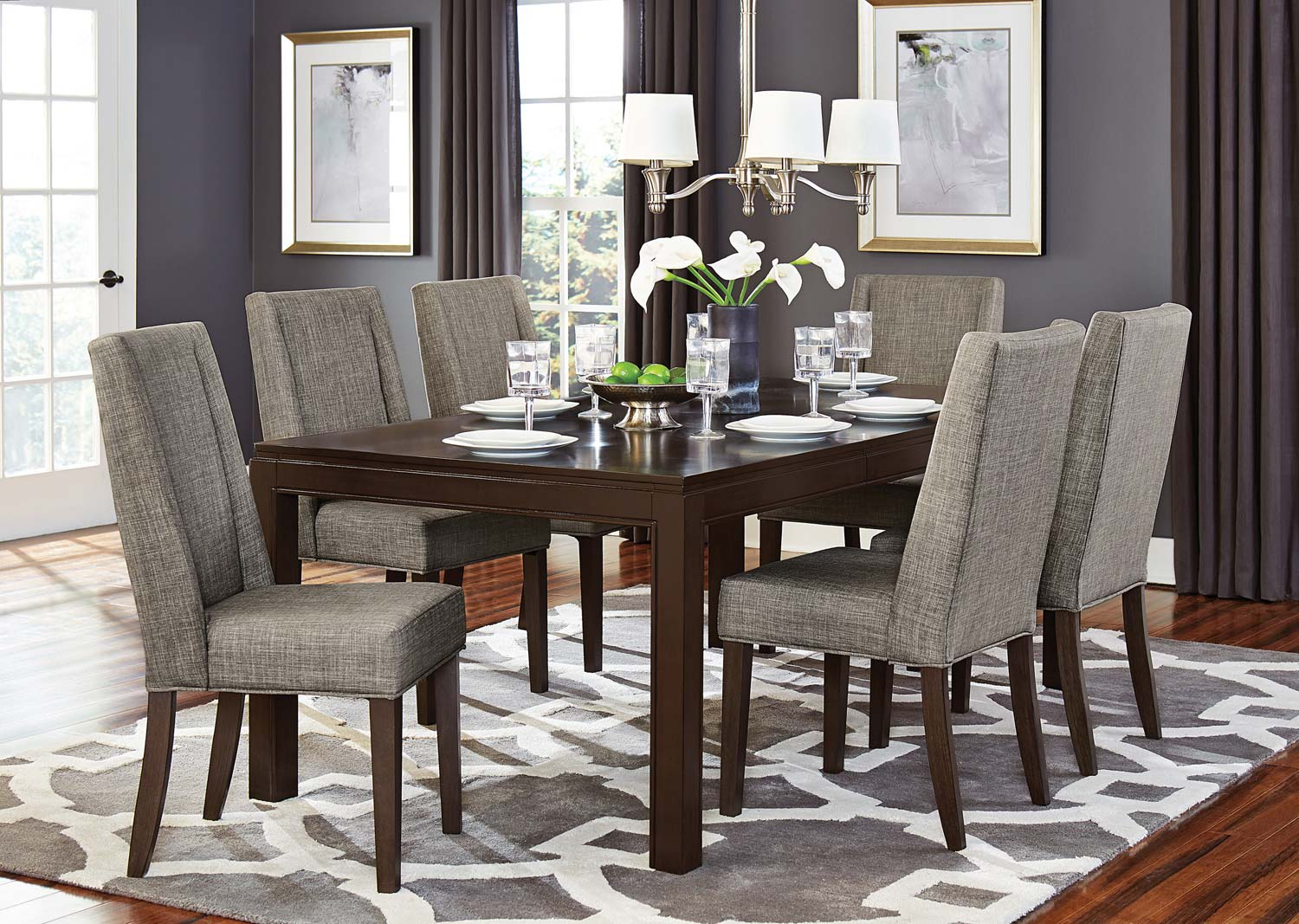 Kavanaugh Dark Brown Dining Table