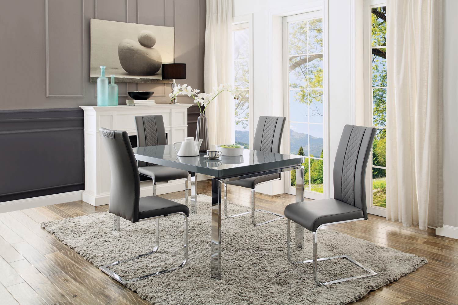 Beau Home Elegance Miami 5pc Dining Room Set Click To Enlarge ...