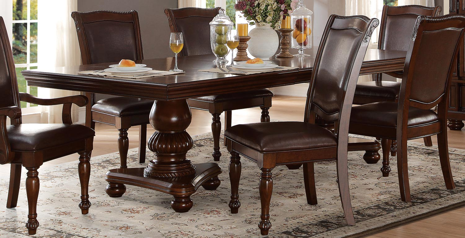 Home Elegance Lordsburg Double Pedestal Dining Table