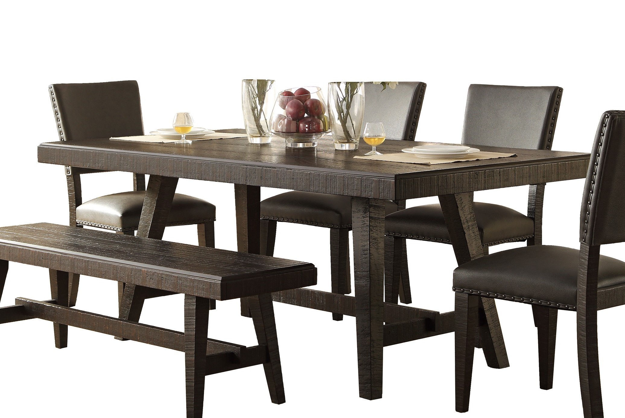 Home Elegance Fenwick Dark Gray Dining Table The Cly