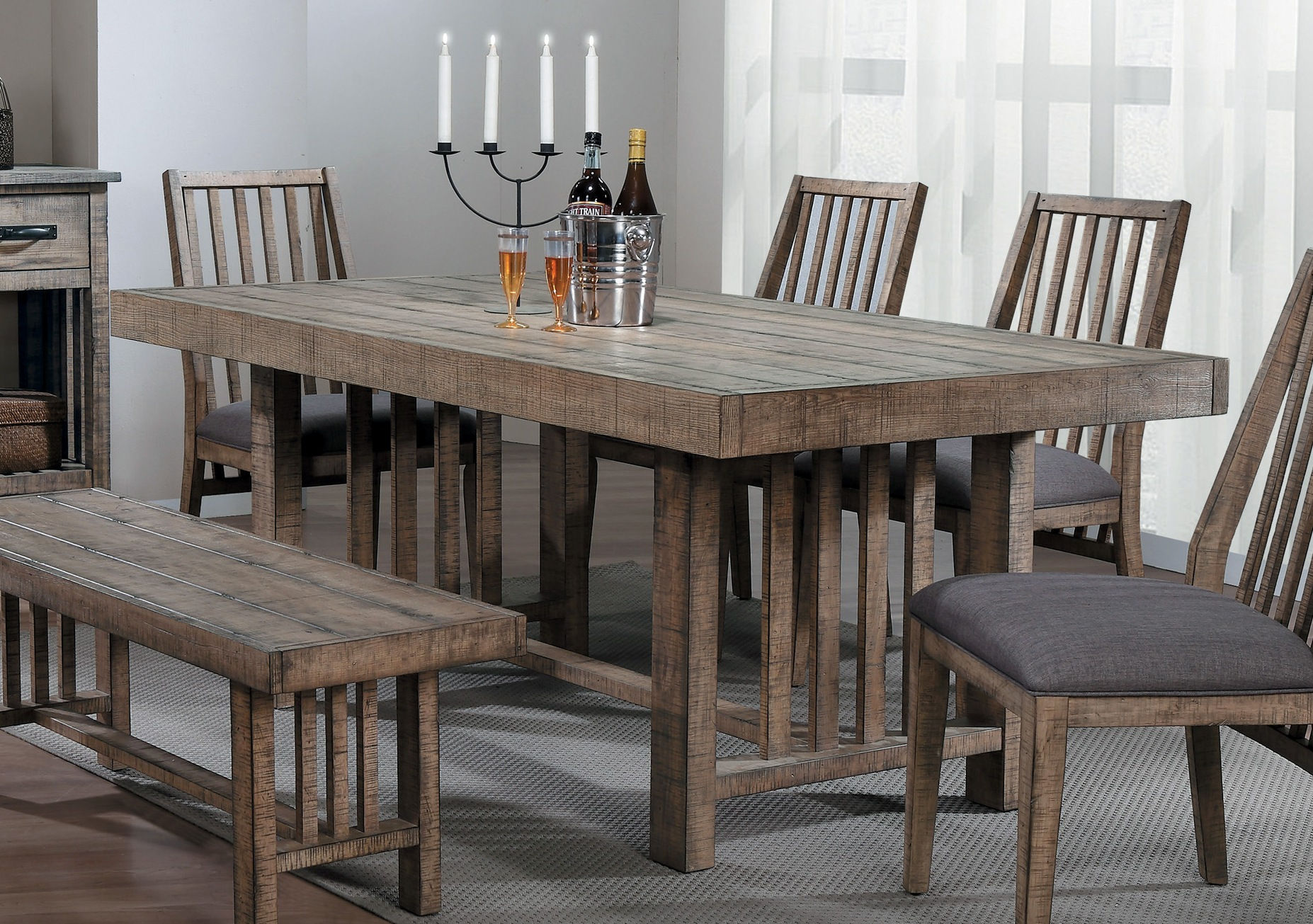 Home Elegance Co Distressed Wood Dining Table Click To Enlarge