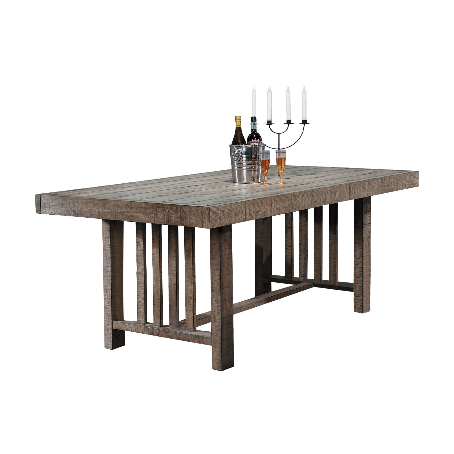 Home Elegance Codie Distressed Wood Dining Table | The ...