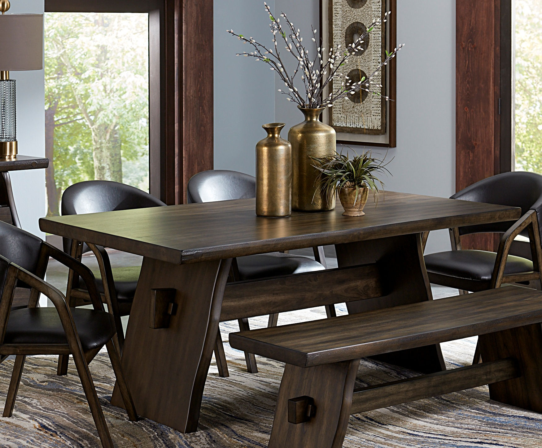 Home Elegance Cabezon Dark Brown Dining