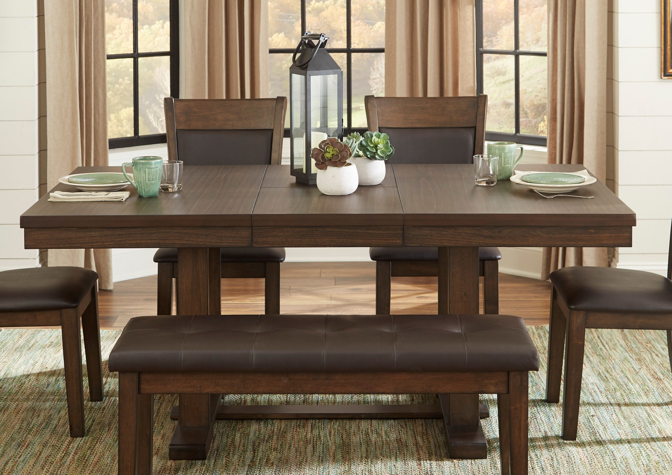 Home Elegance Wieland Dark Brown Dining
