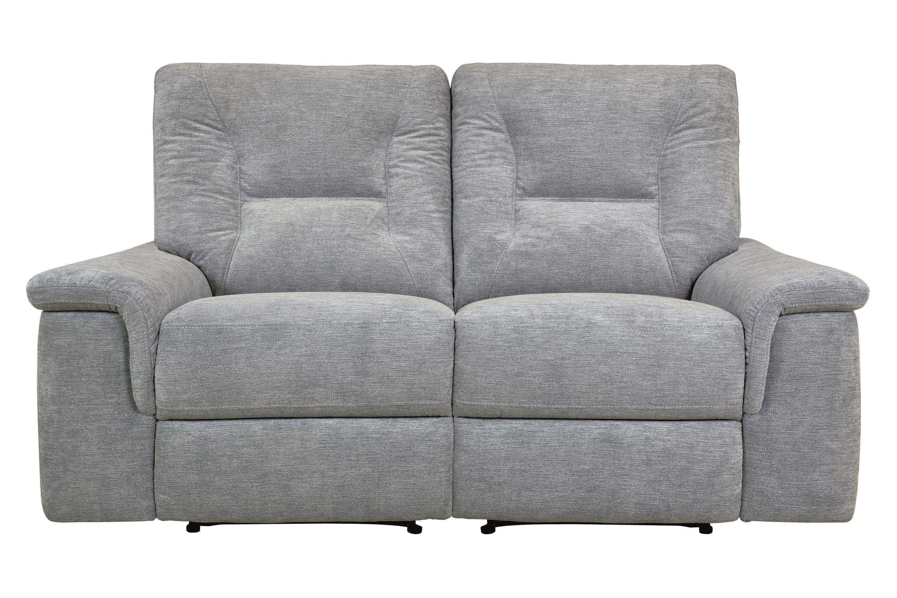 Home Elegance Edelweiss Metal Gray Double Reclining Love Seat