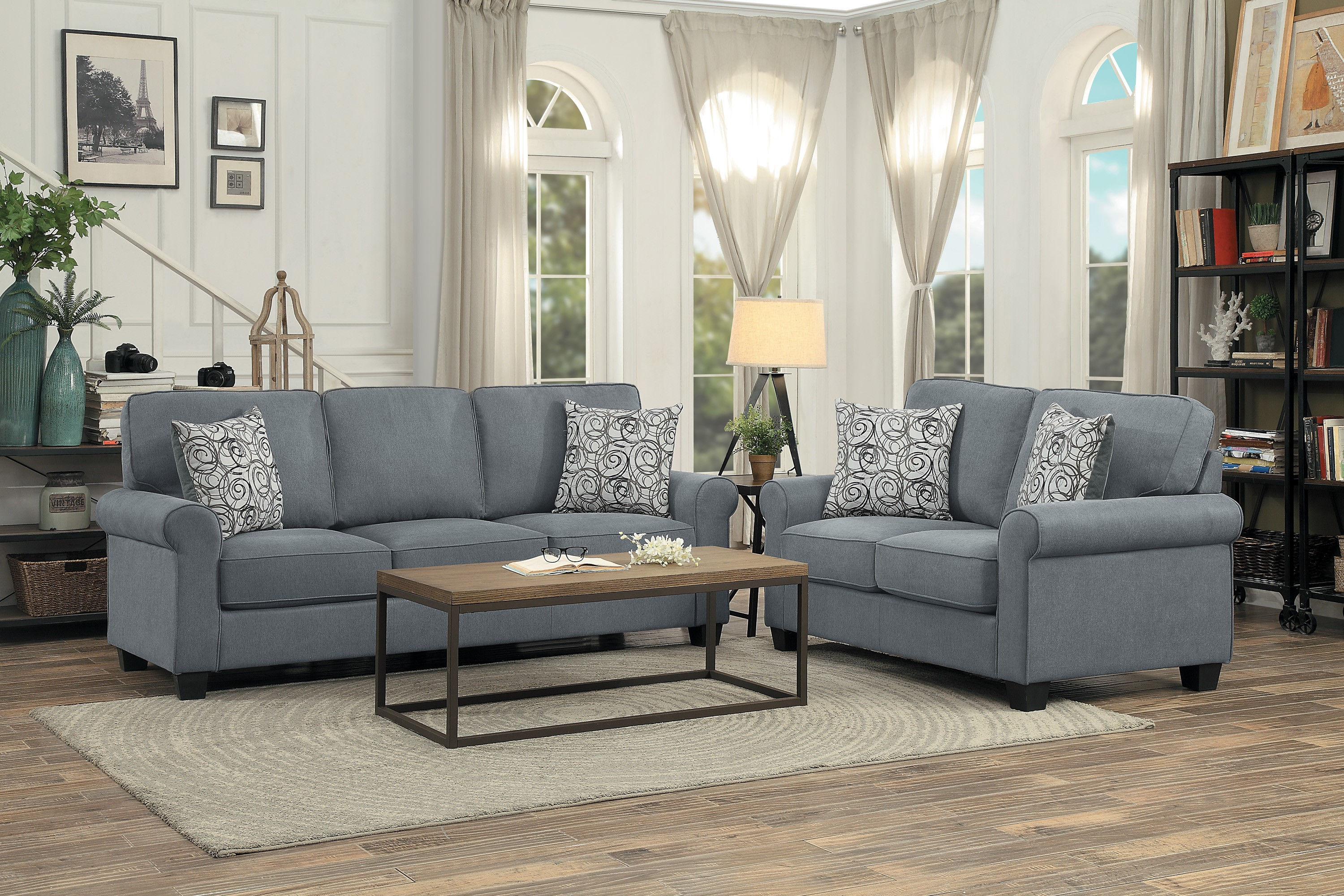 Cool Home Elegance Selkirk Gray 2Pc Living Room Set With Sofa Sleeper Download Free Architecture Designs Ferenbritishbridgeorg