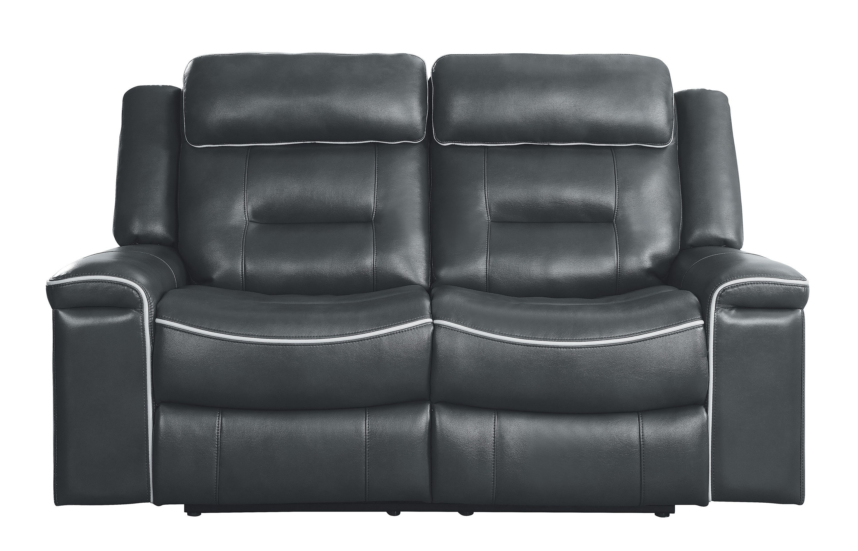 Tremendous Home Elegance Darwan Dark Gray Leather Reclining Loveseat Alphanode Cool Chair Designs And Ideas Alphanodeonline