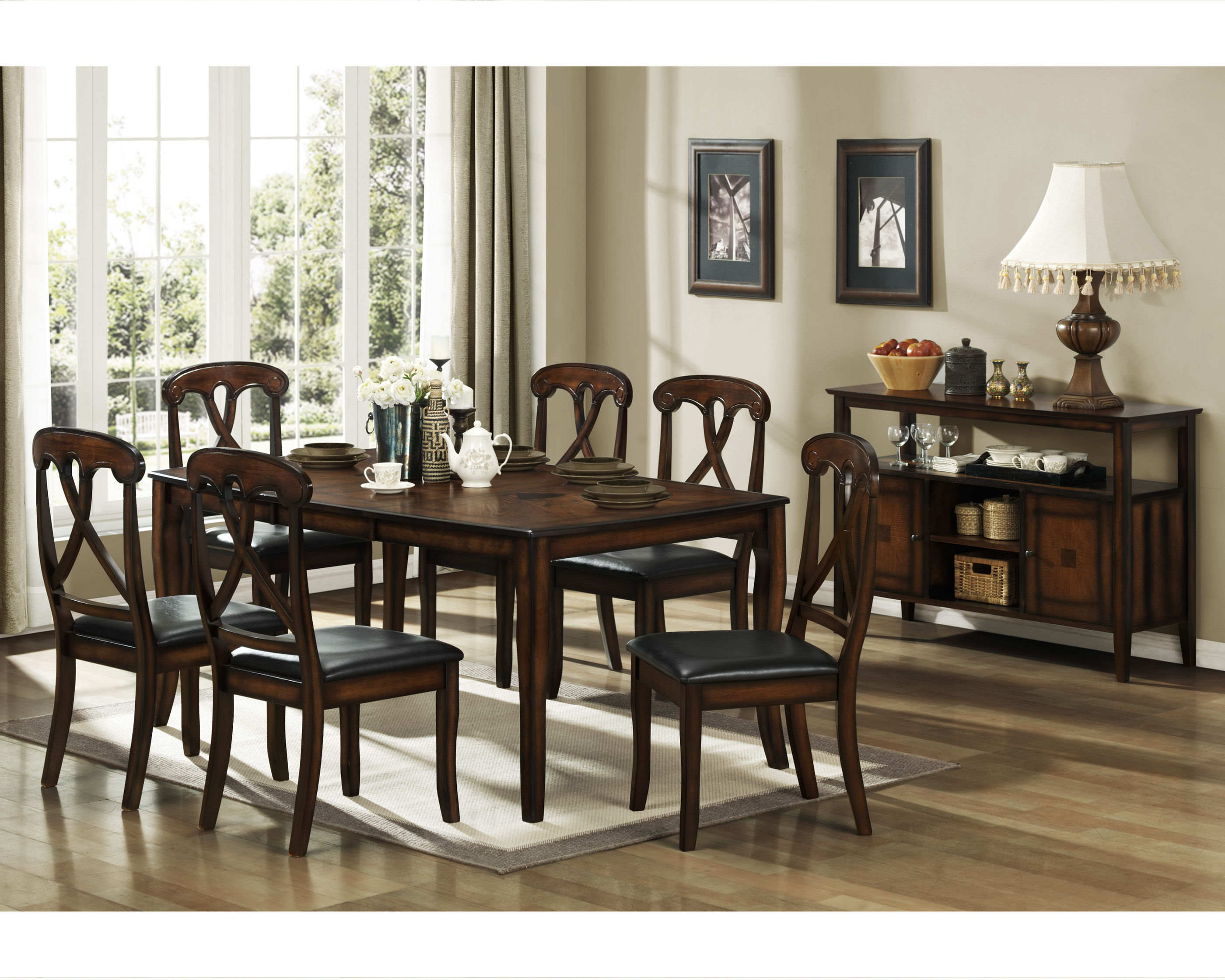 Kinston distressed oak wood dining table the classy home for Best transitional dining rooms