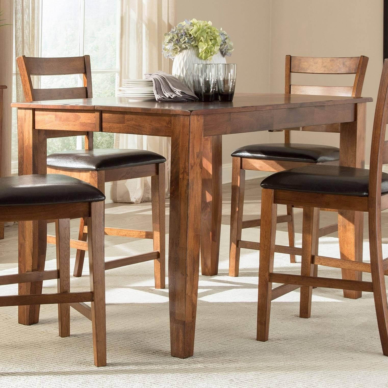 Peachy Intercon Kona Brandy Butterfly Gathering Table Gmtry Best Dining Table And Chair Ideas Images Gmtryco