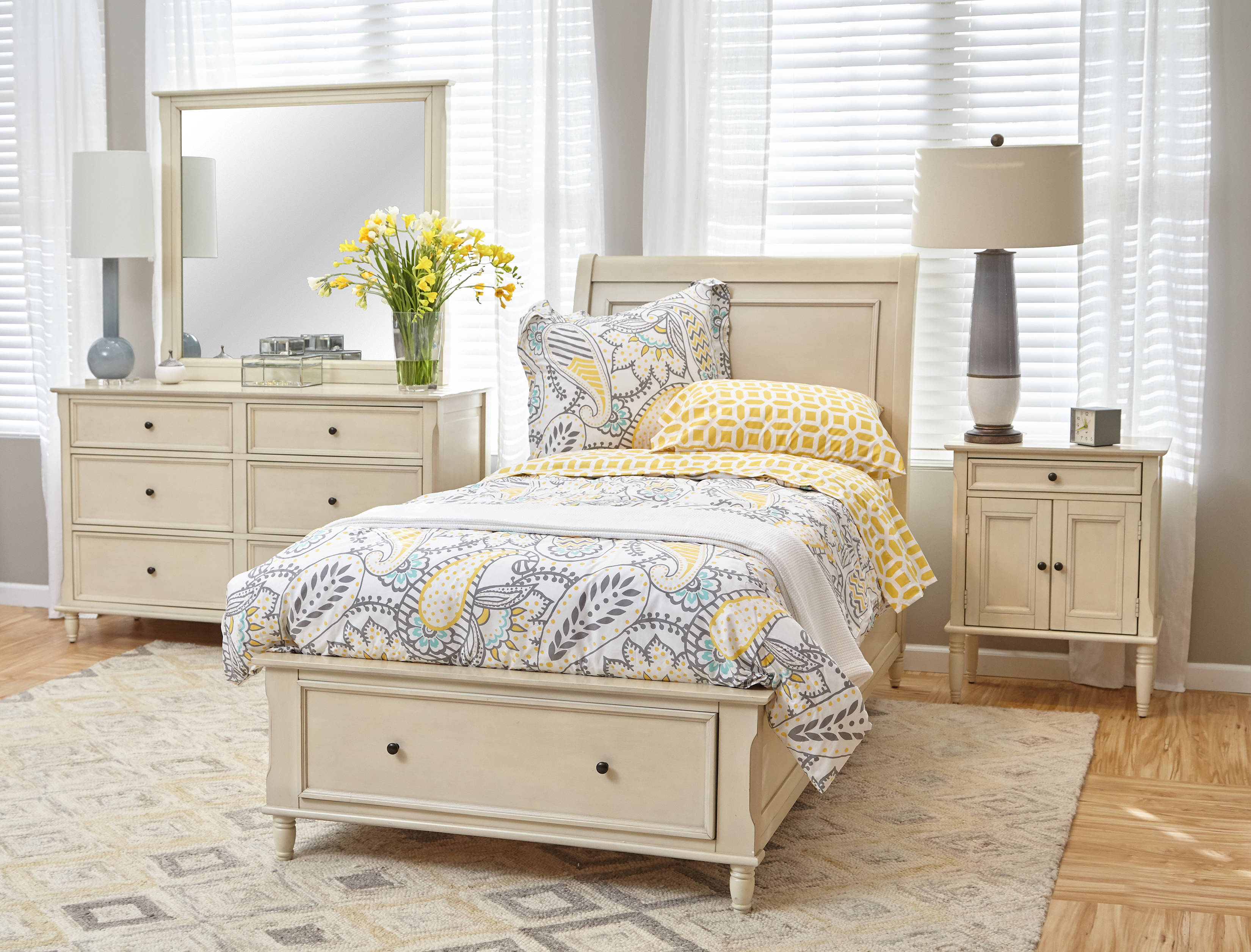 Jofran Furniture Avignon Youth Ivory Master Bedroom Set The Classy Home