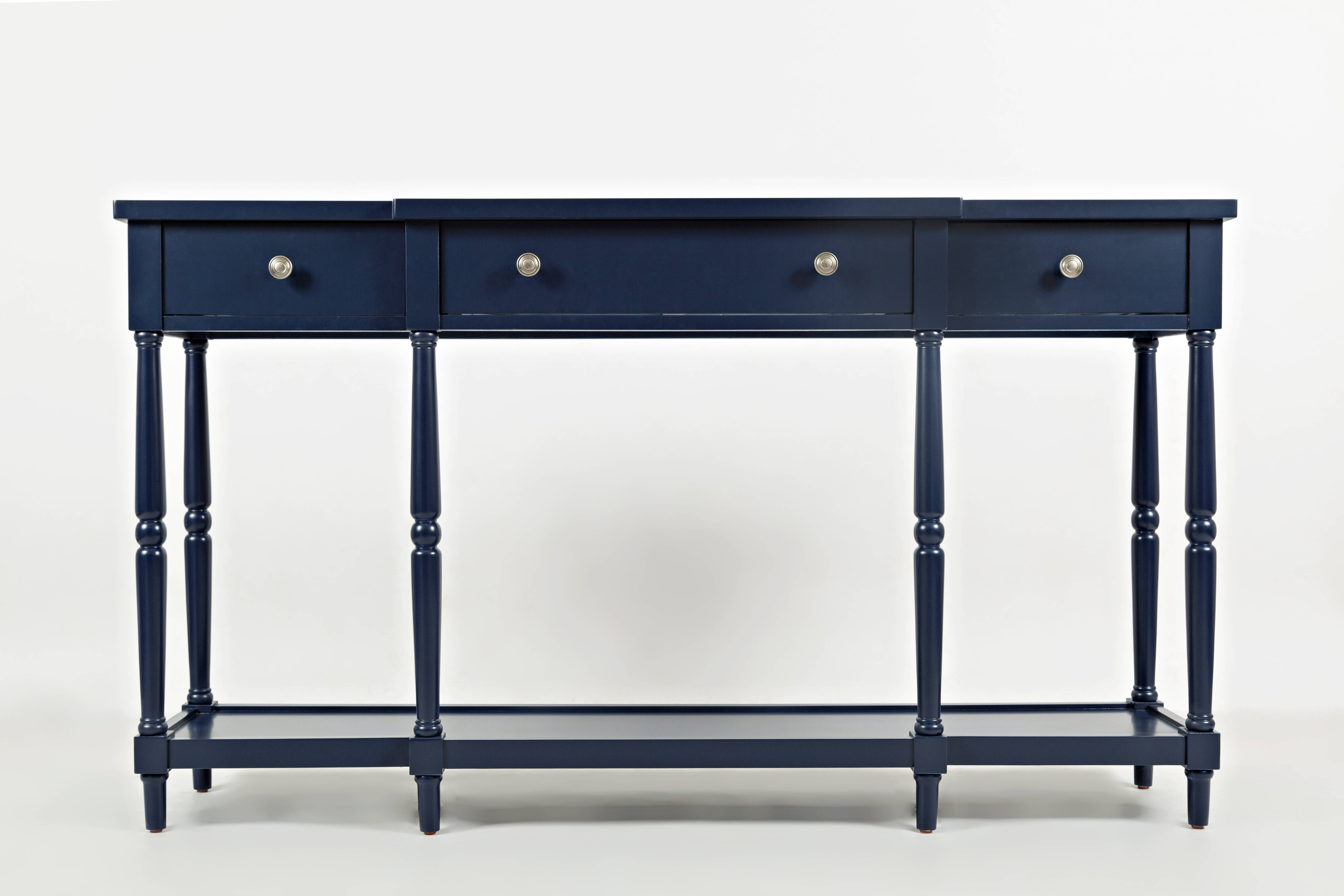 Jofran Furniture Stately Home Navy 60 Inch Console