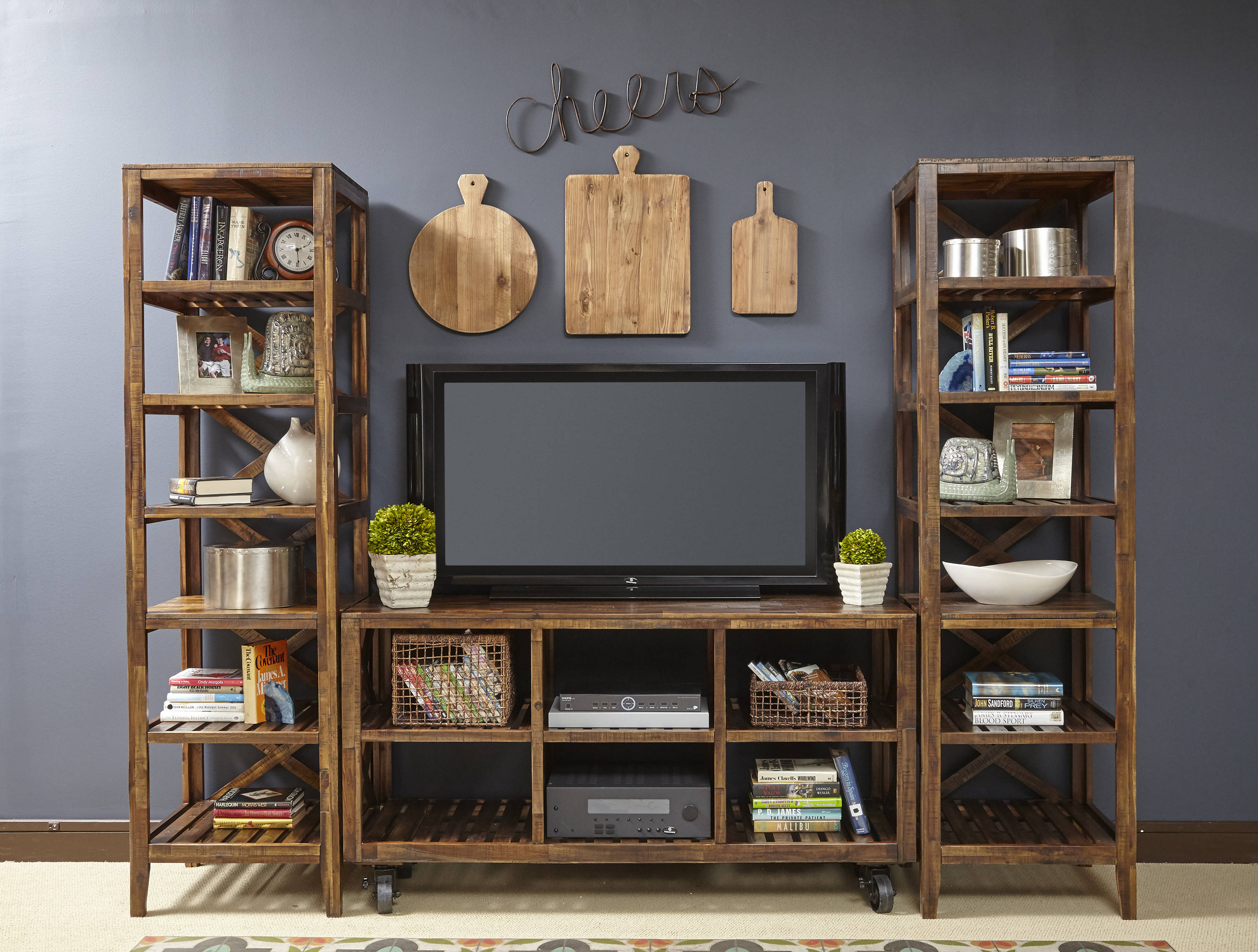 Jofran Furniture Loftworks Entertainment Center With 60 Inch Tv