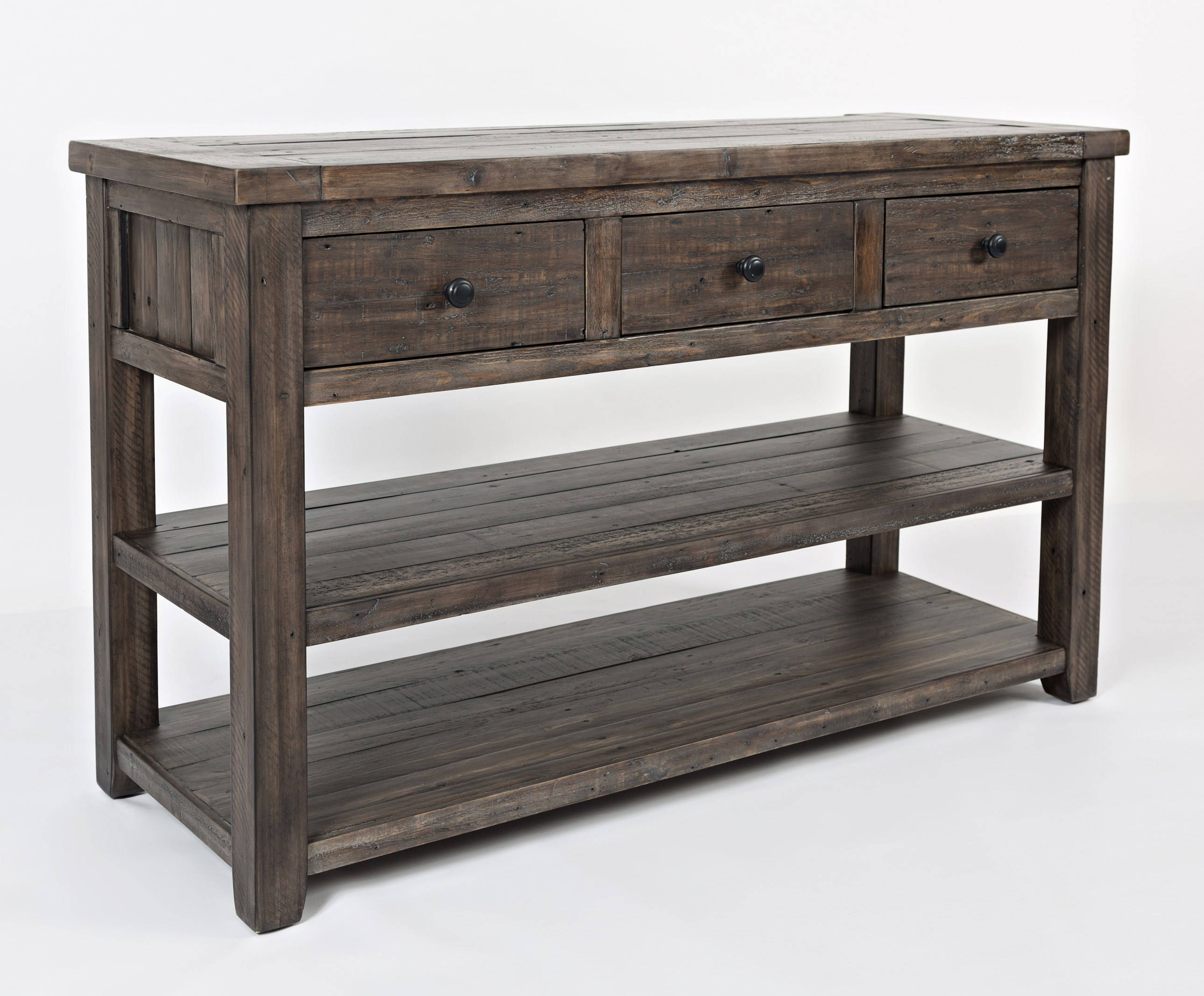 Jofran Furniture Madison County Barnwood Sofa Media Table