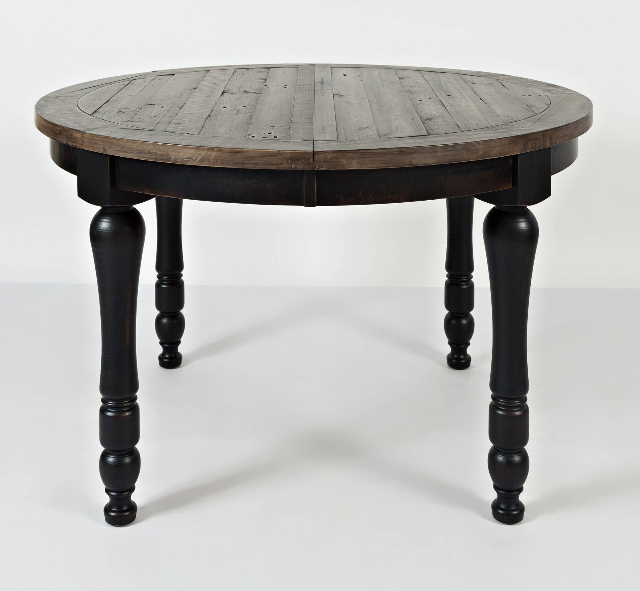 Vintage Black Round To Oval Dining Table Click Enlarge