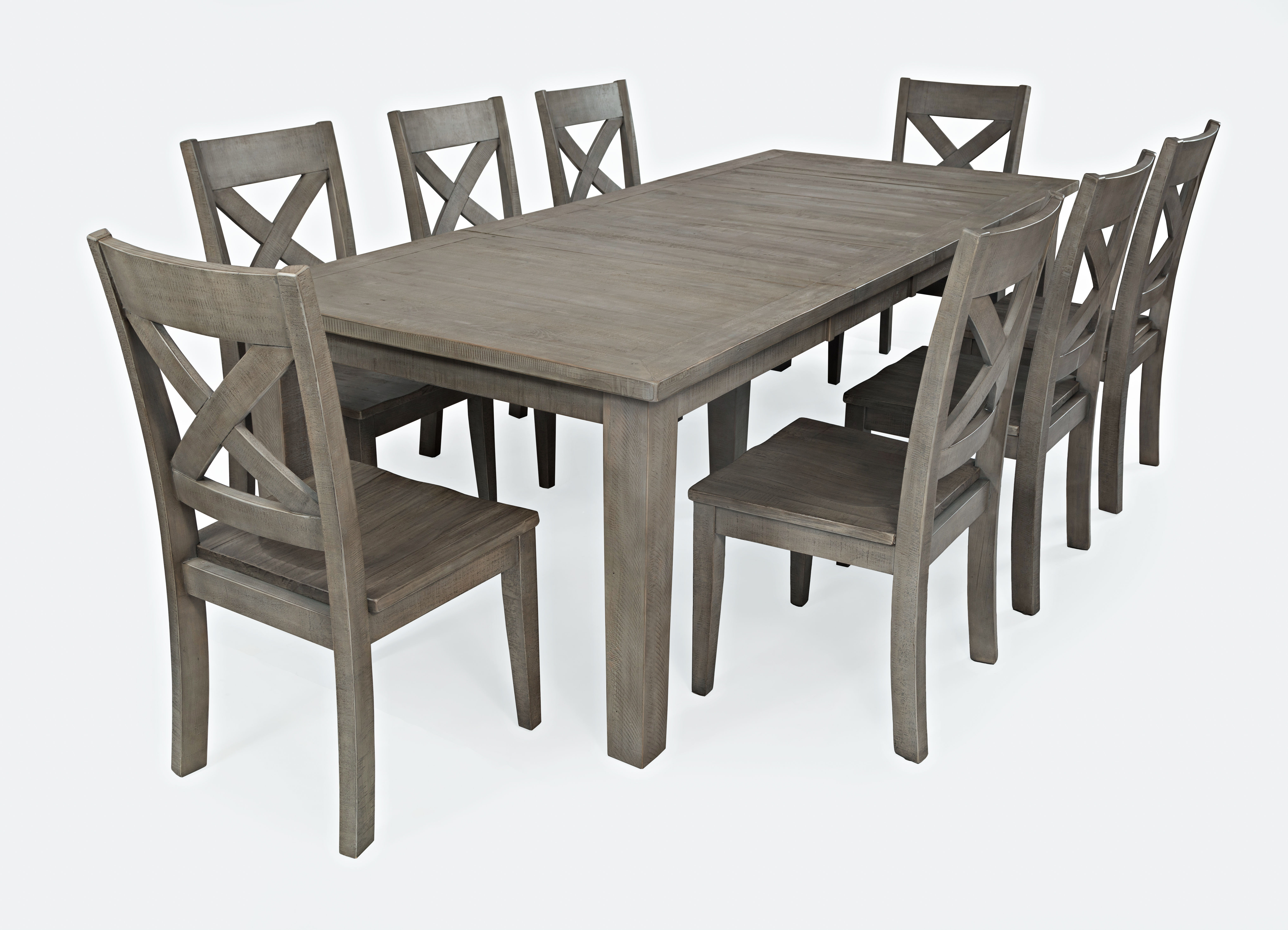Jofran Furniture Outer Banks Driftwood 9pc Dining Set With Rectangle