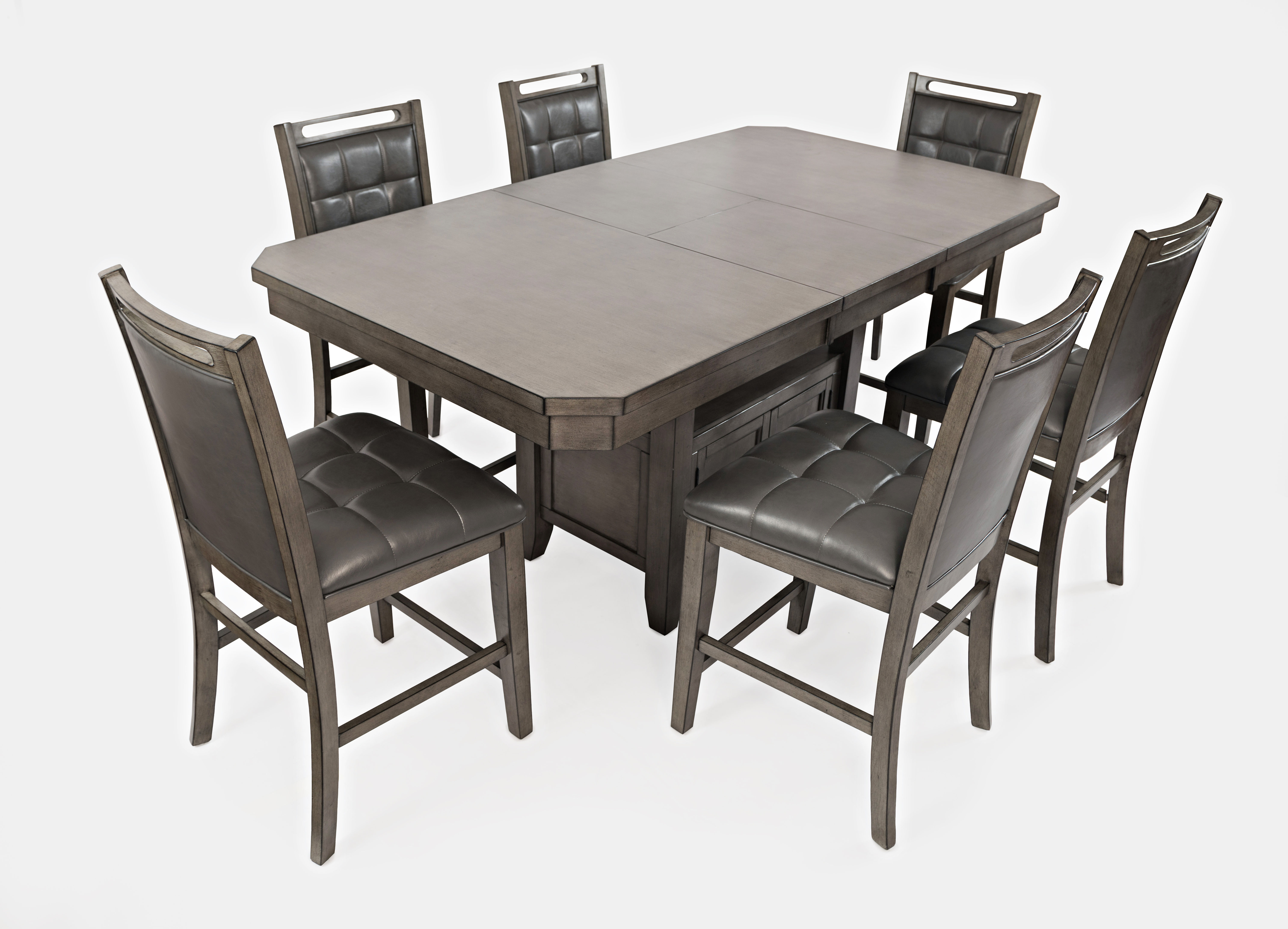 Jofran Furniture Manchester Grey 7pc Dining Room Set With Rectangle Table