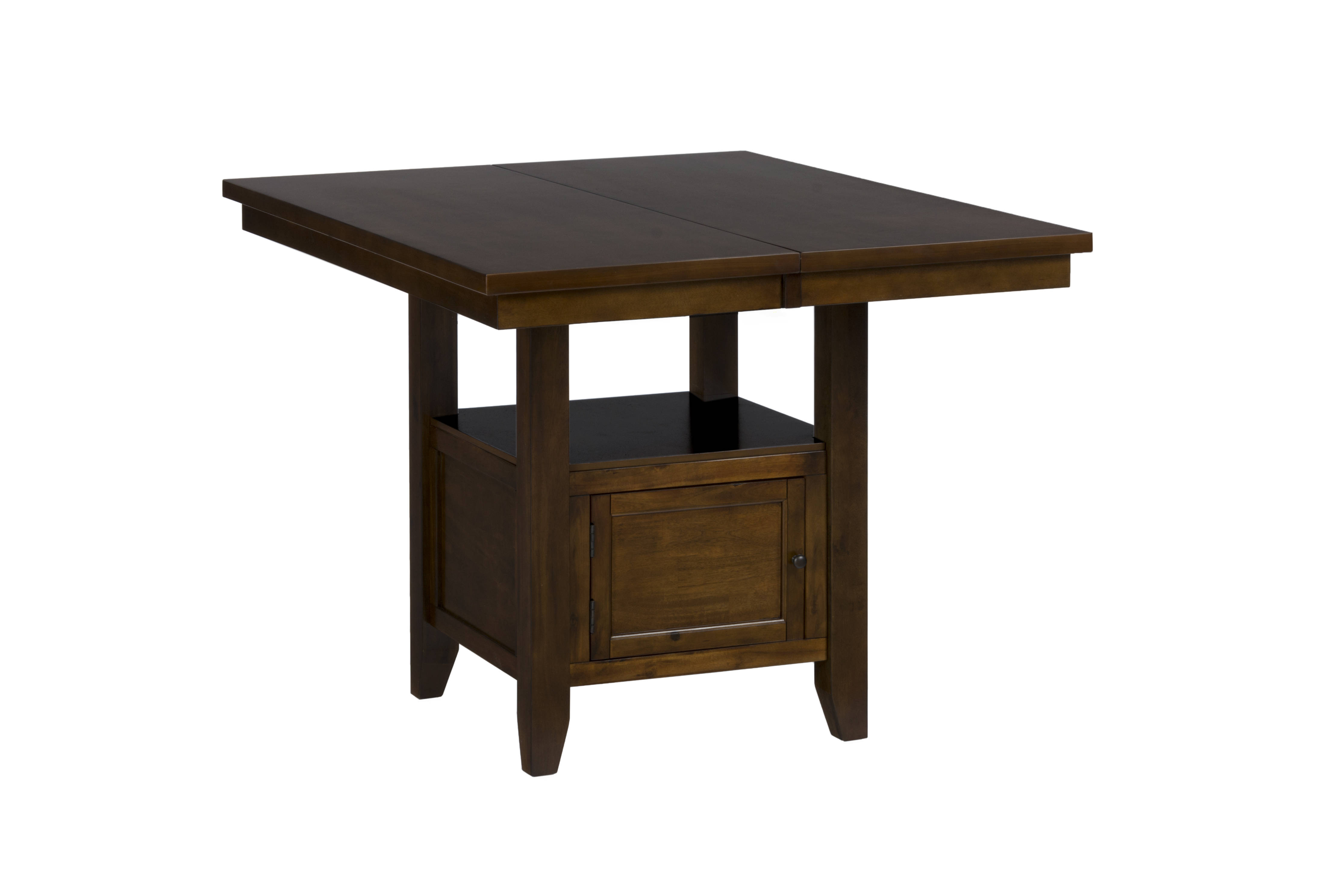 Jofran Furniture Taylor Cherry Storage Counter Height Table