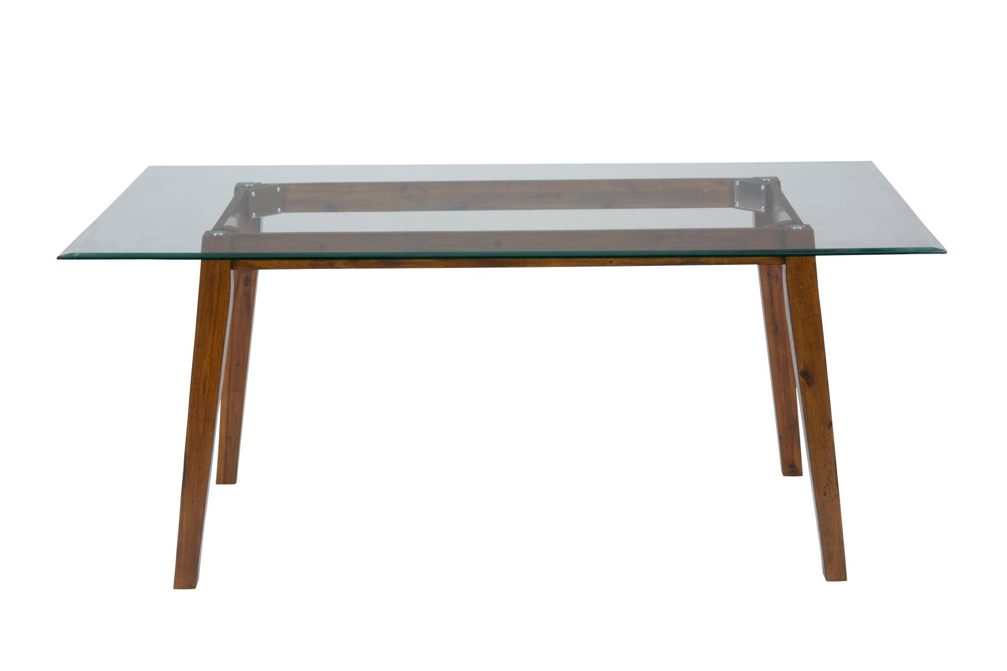 Plantation wood rectangular dining height glass top table for Dining table set deals