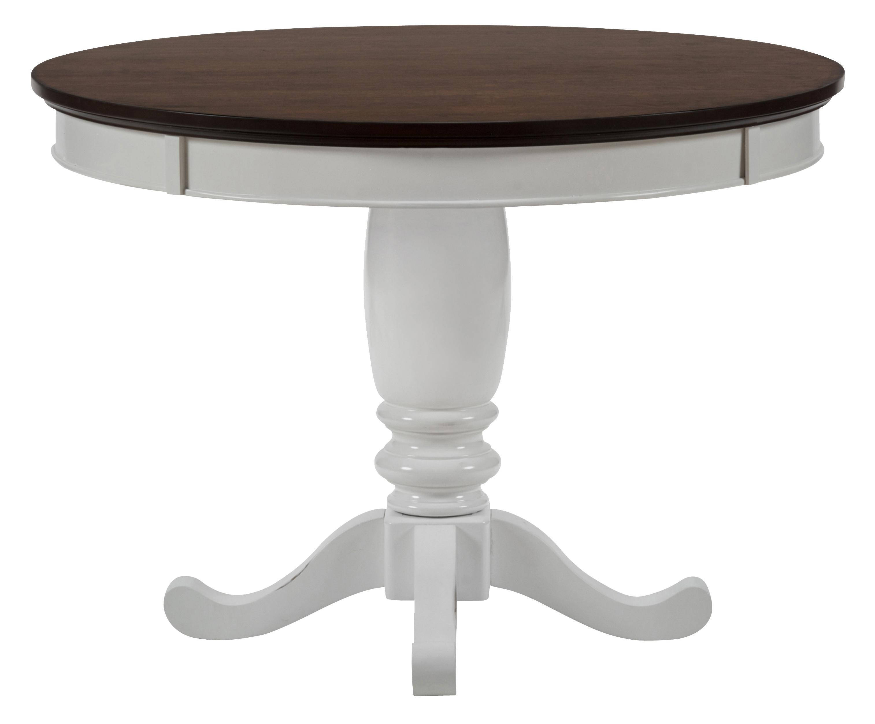 Braden birch casual white brown two tone 42 inch round for 42 inch round dining table