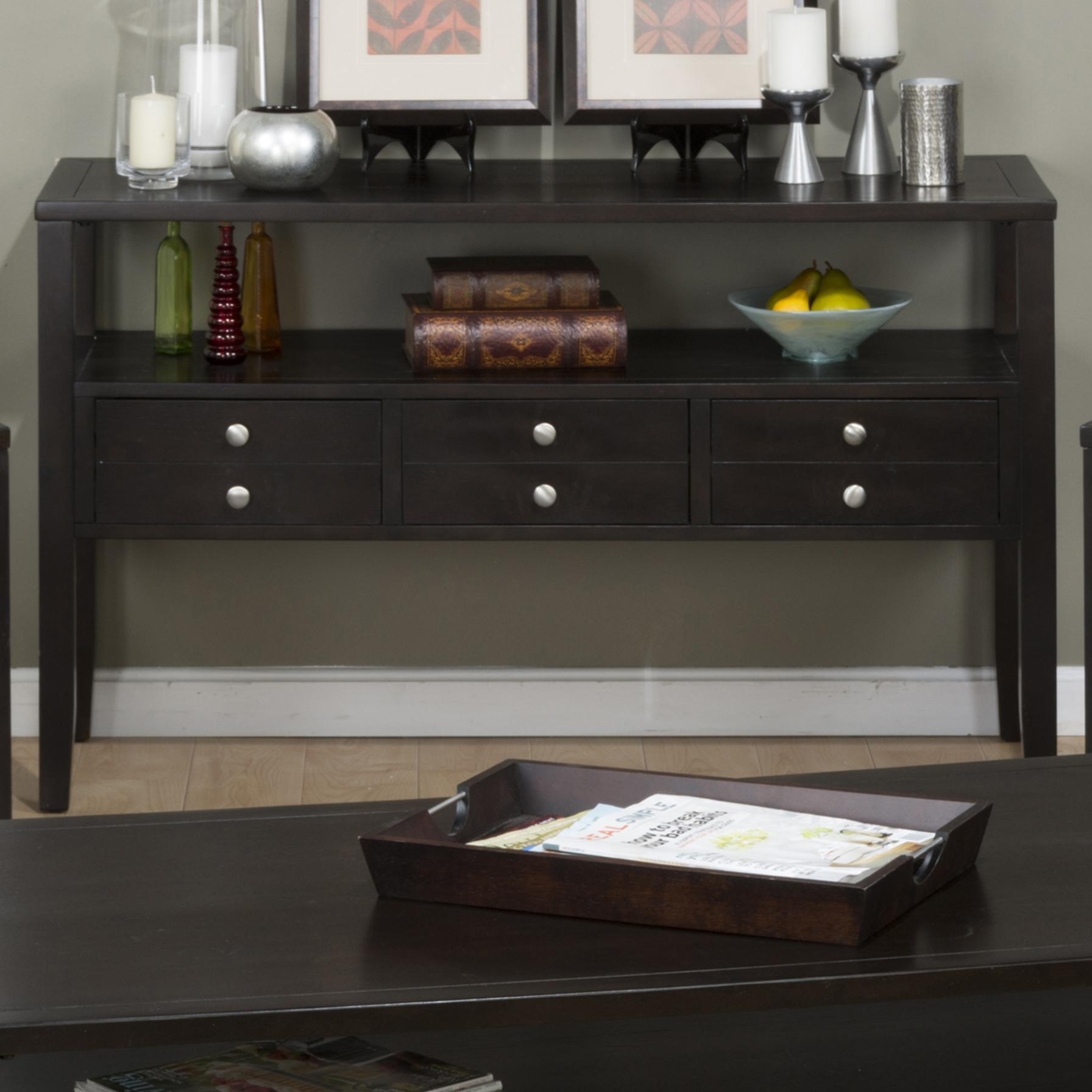 Black sofa table with drawers - Click To Love Itclick To Enlargeclick