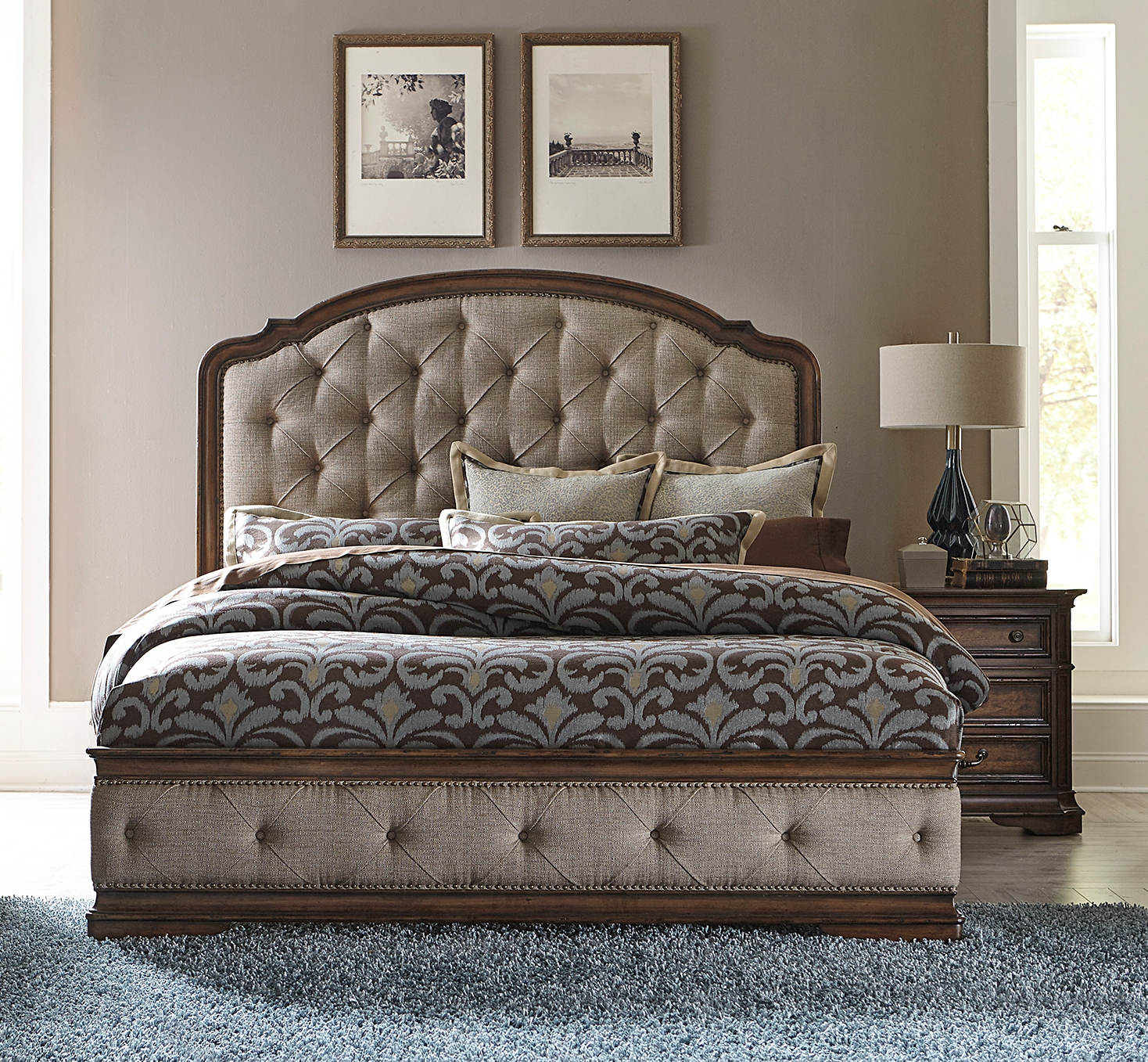 Liberty Amelia Toffee 2pc Bedroom Set With Queen Upholstered Bed