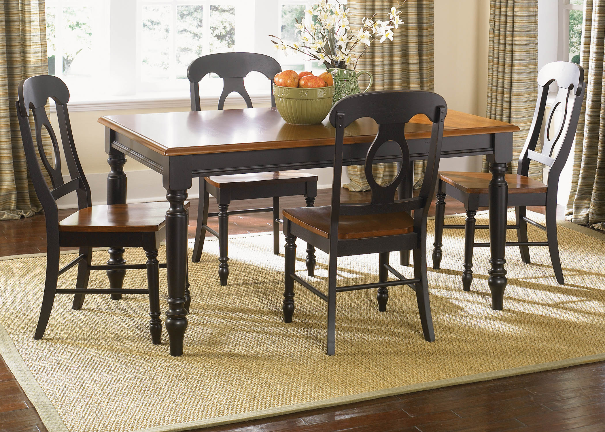 Liberty Low Country Black Wood 5pc Dining Room Set