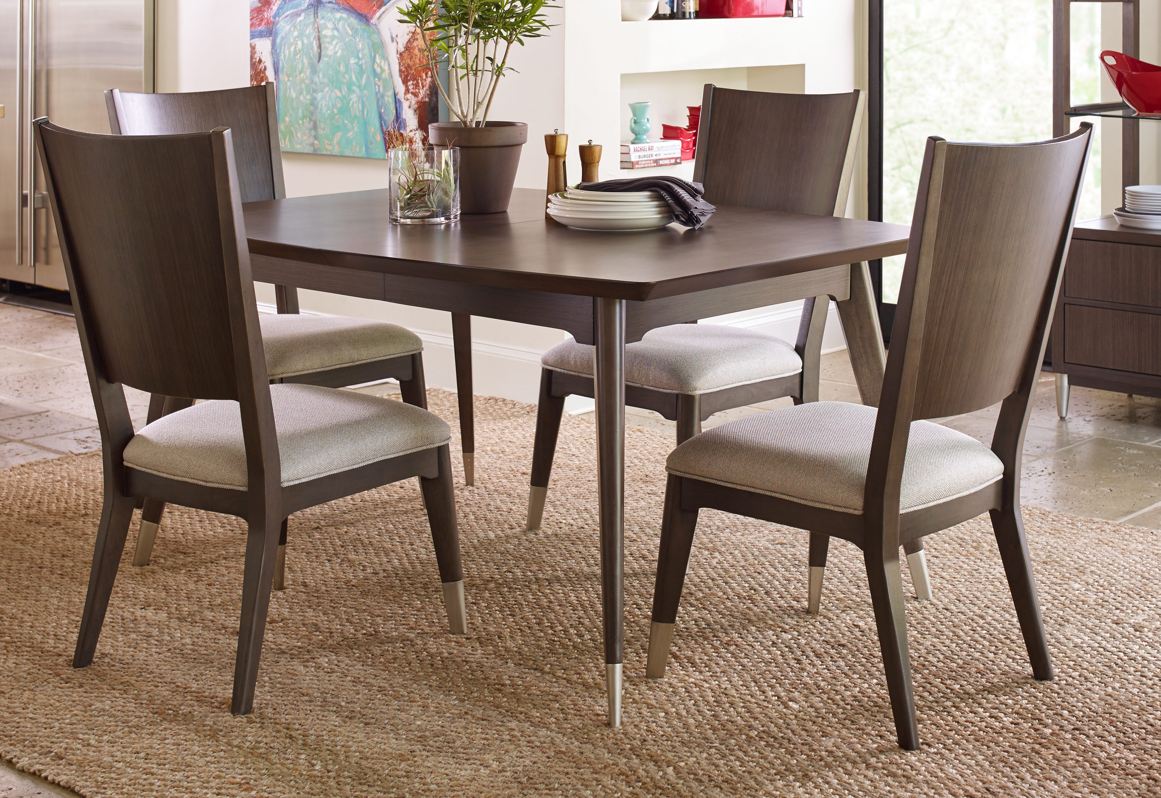 Marvelous Legacy Furniture Soho By Rachael Ray Ash Shaped 5Pc Dining Bralicious Painted Fabric Chair Ideas Braliciousco