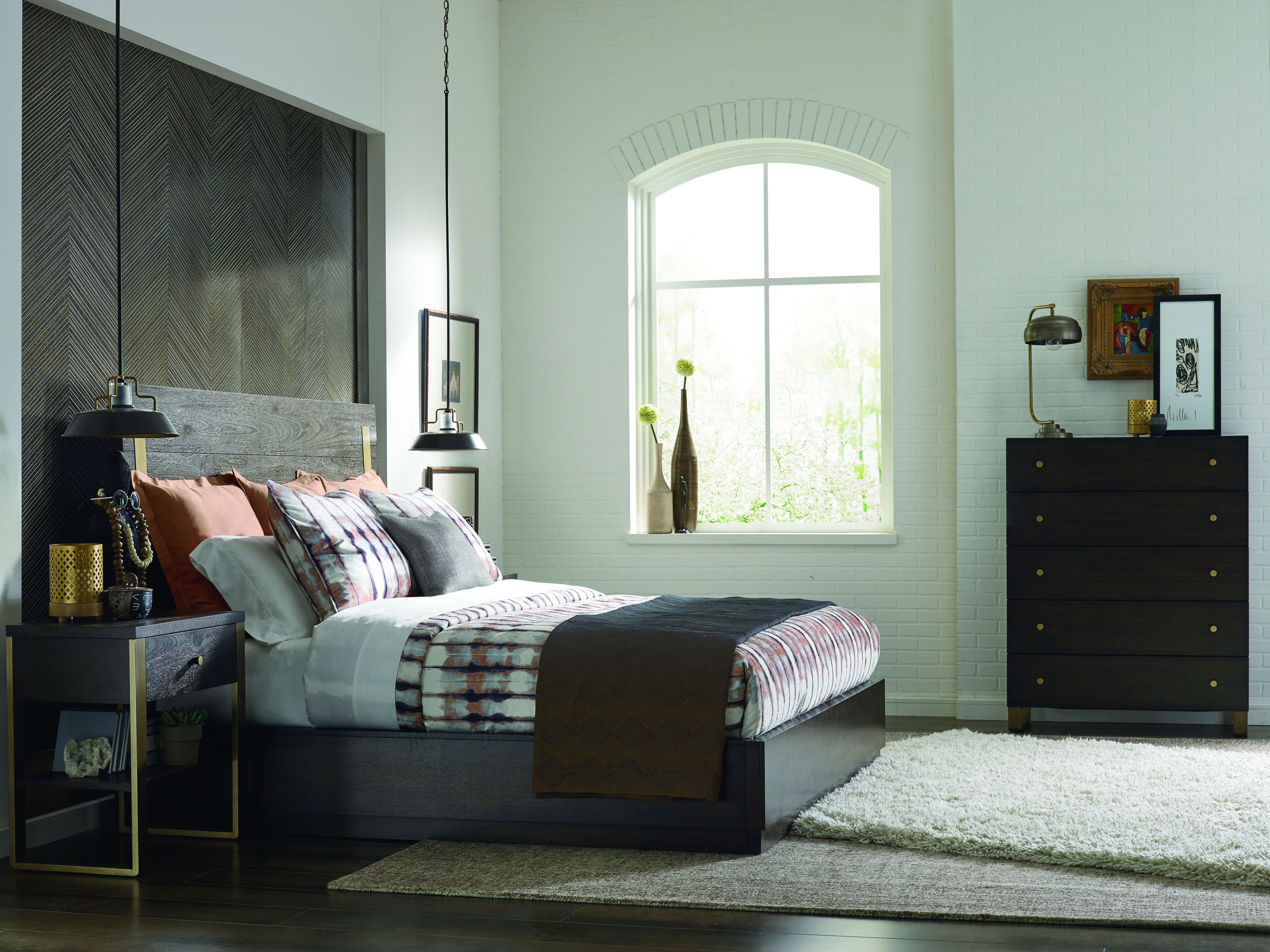 Legacy Furniture Austin Acacia 2pc Bedroom Set With King Brass ...
