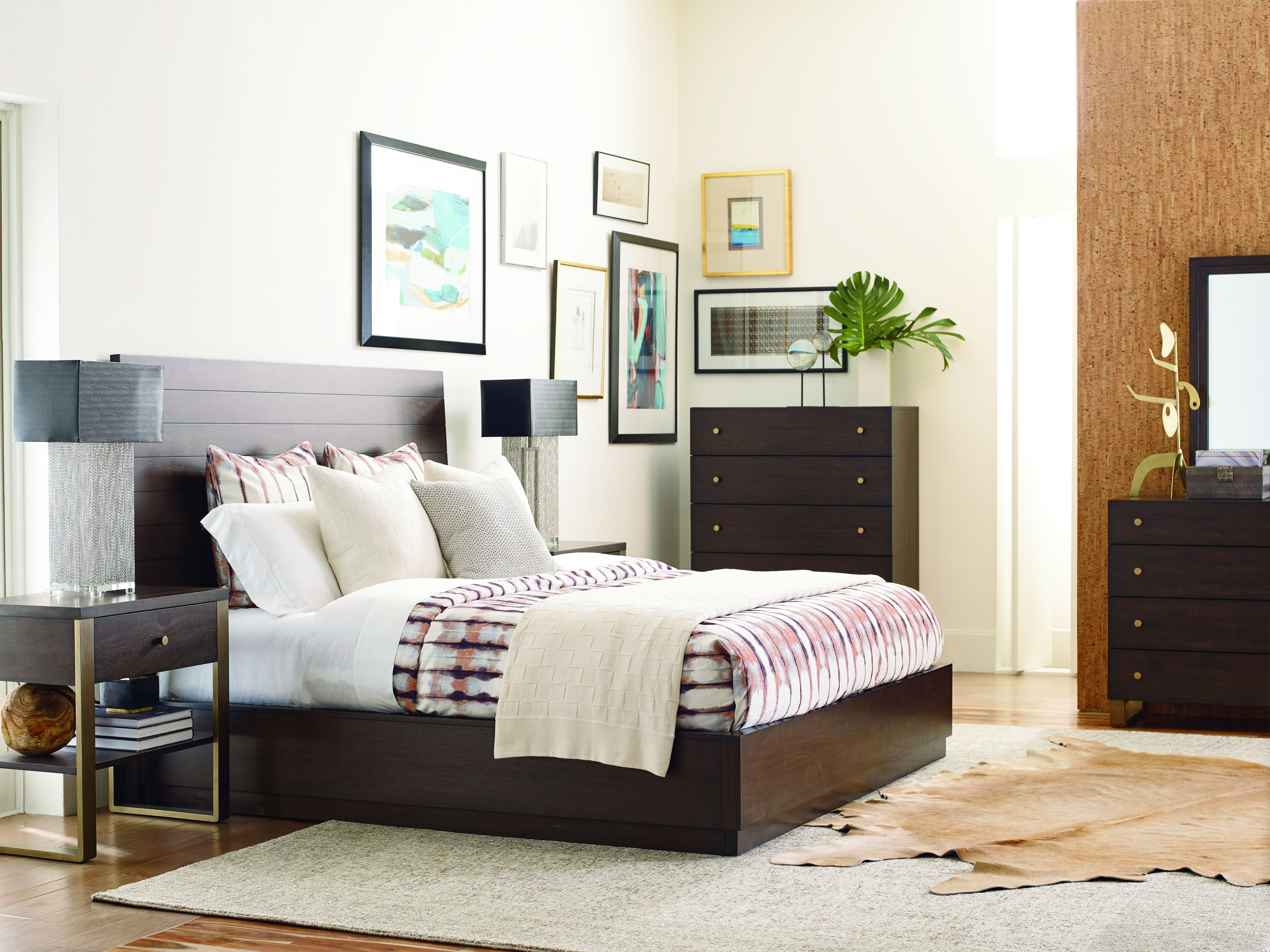 Legacy Furniture Austin Acacia 2pc Queen Bedroom Set With Open Night ...
