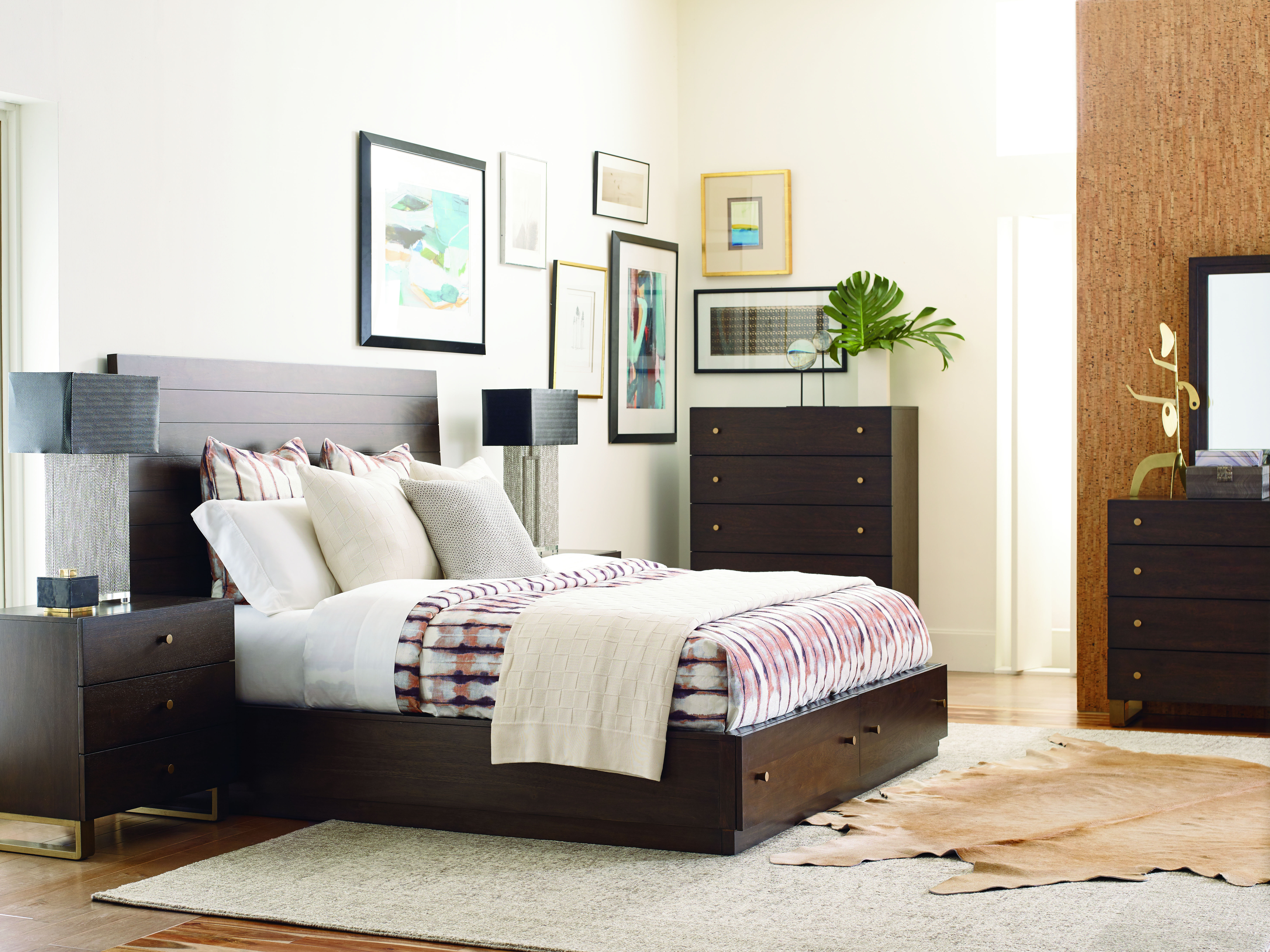 Legacy Furniture Austin Acacia 2pc Bedroom Set With Queen Storage Panel Bed