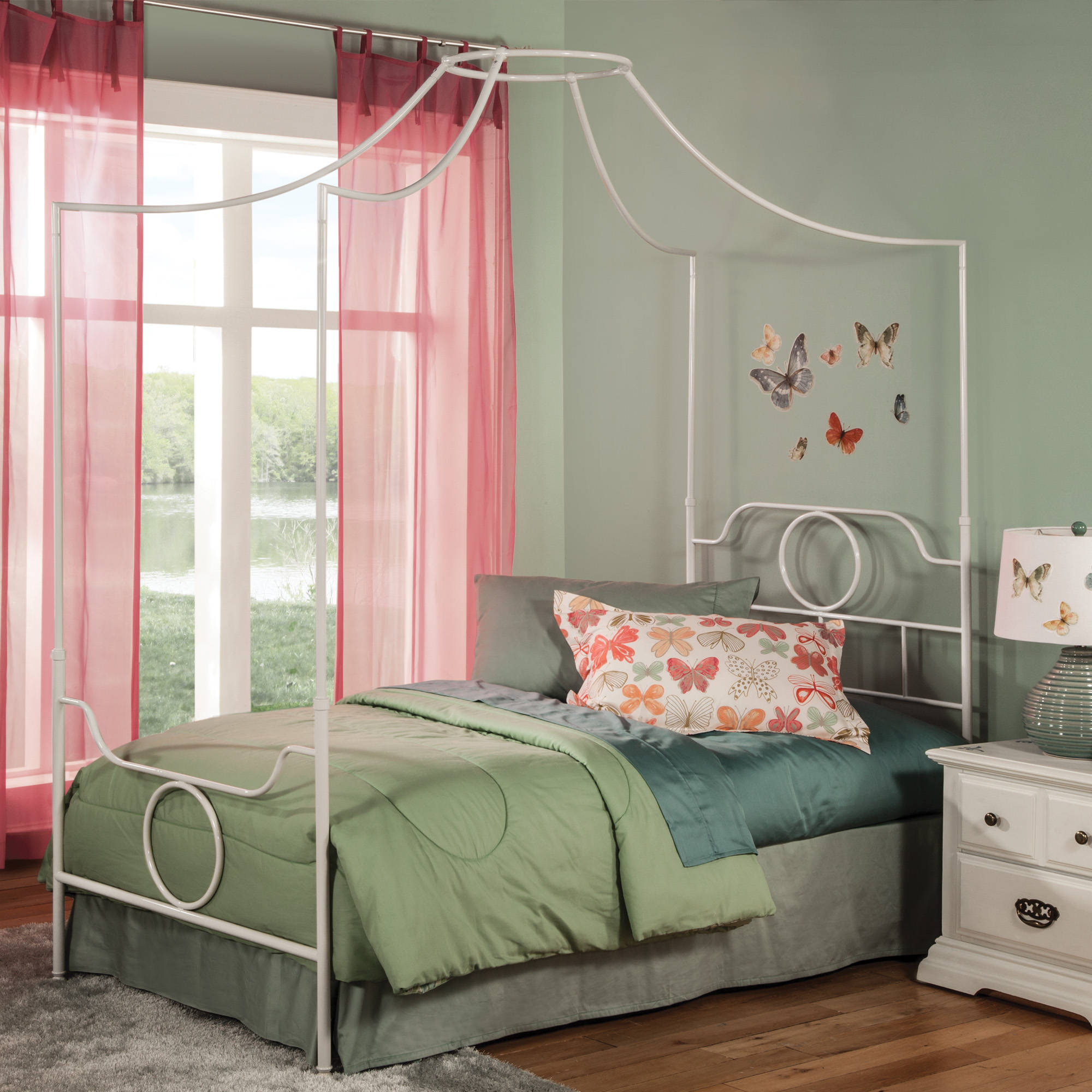 ... White Kids Twin Canopy Bed Click To Enlarge ... & Leggett and Platt Emsworth White Kids Twin Canopy Bed | The Classy ...