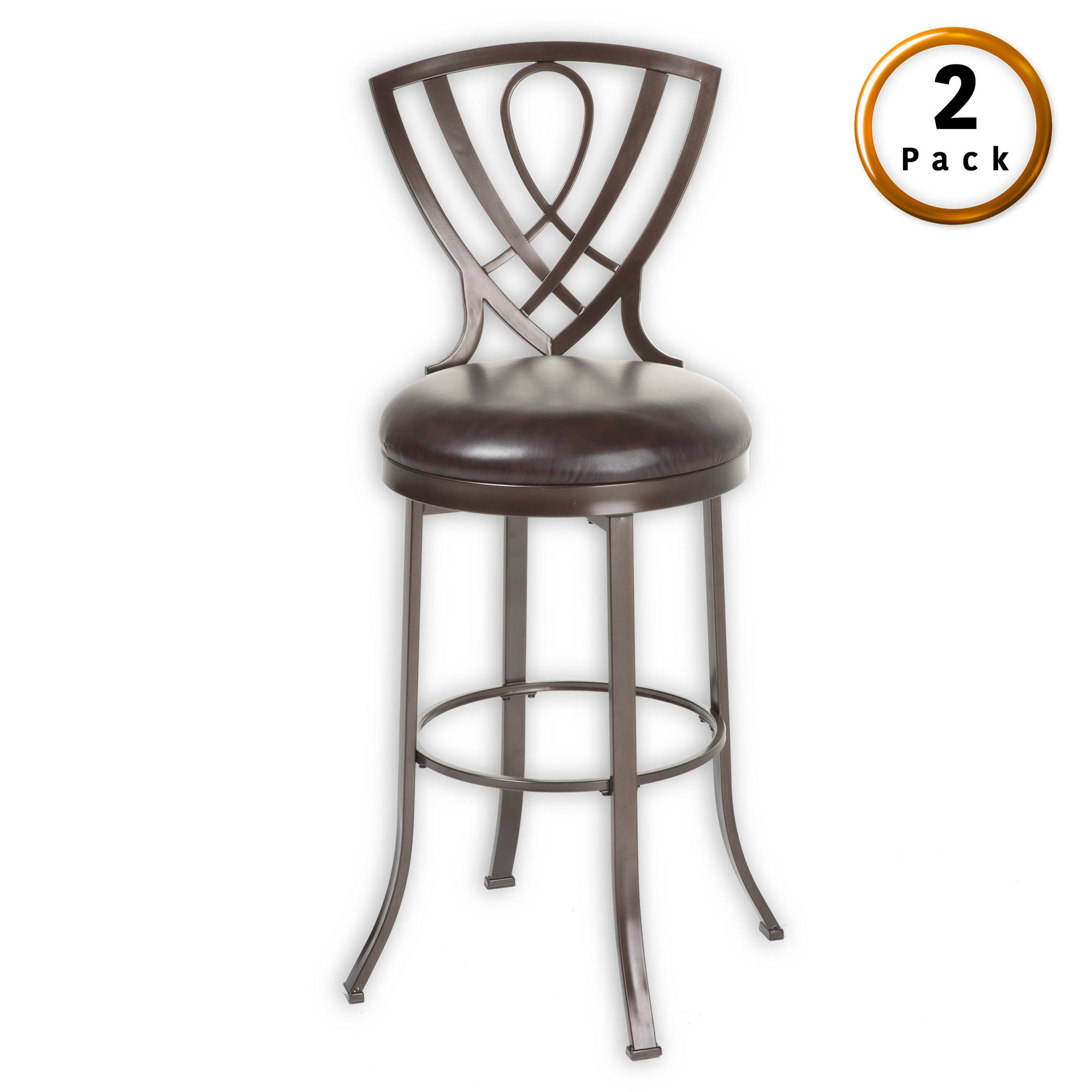 2 Leggett And Platt Lincoln Chocolate 26 Inch Counter Stools The