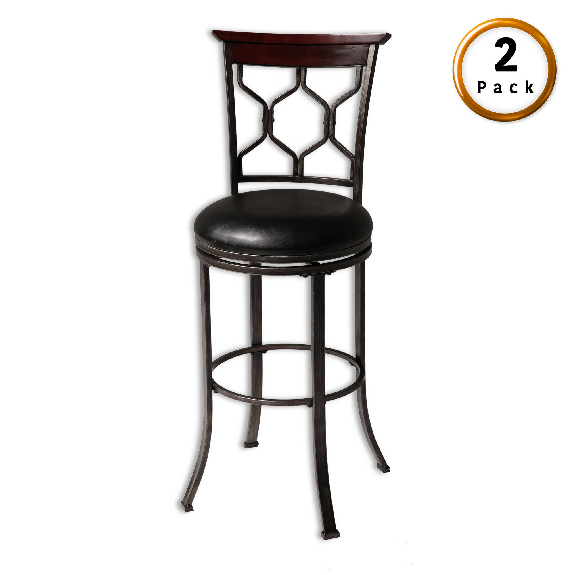 2 Leggett And Platt Tallahassee Faux Leather 26 Inch Counter Stools