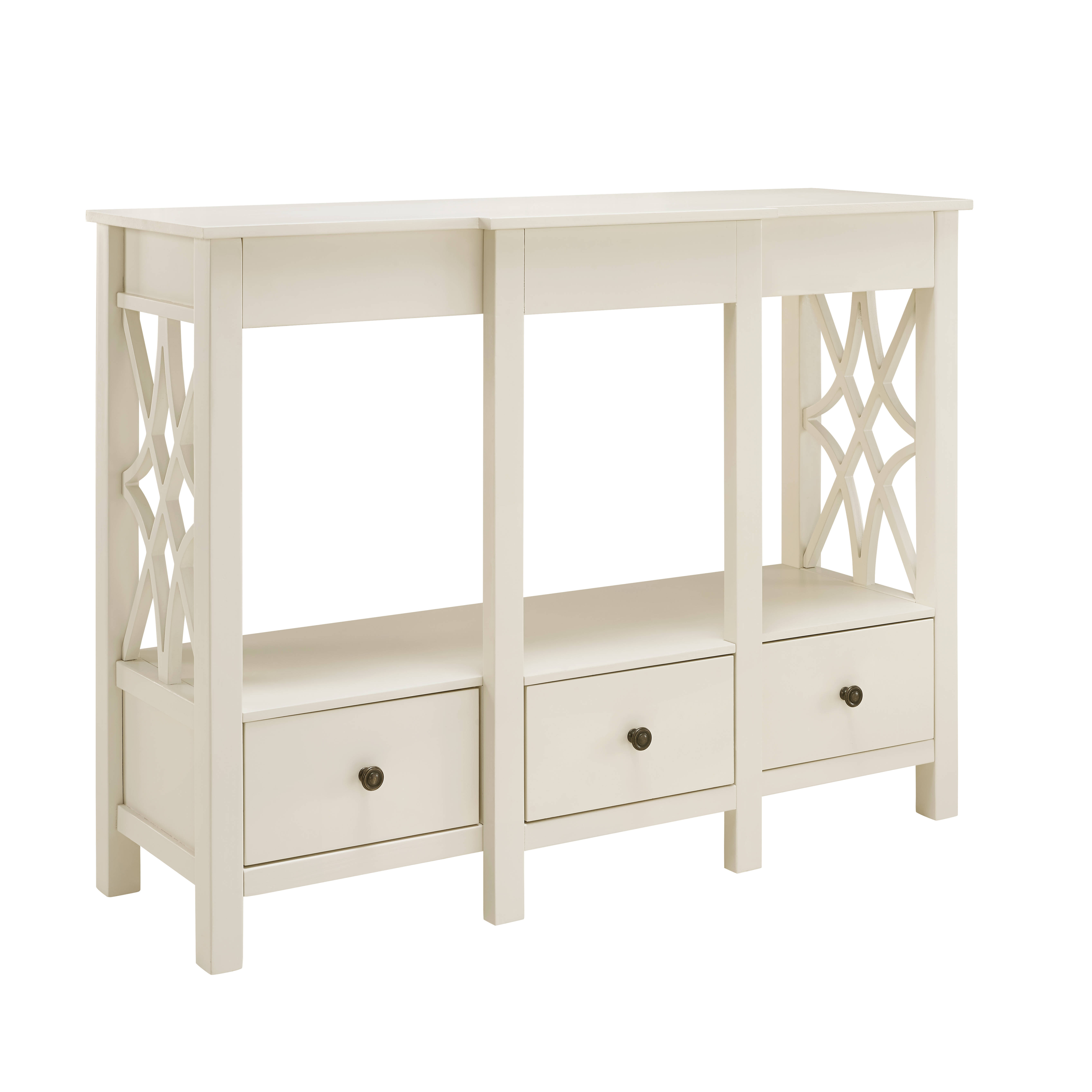 white antique harbor with view computer hutch products desk sauder