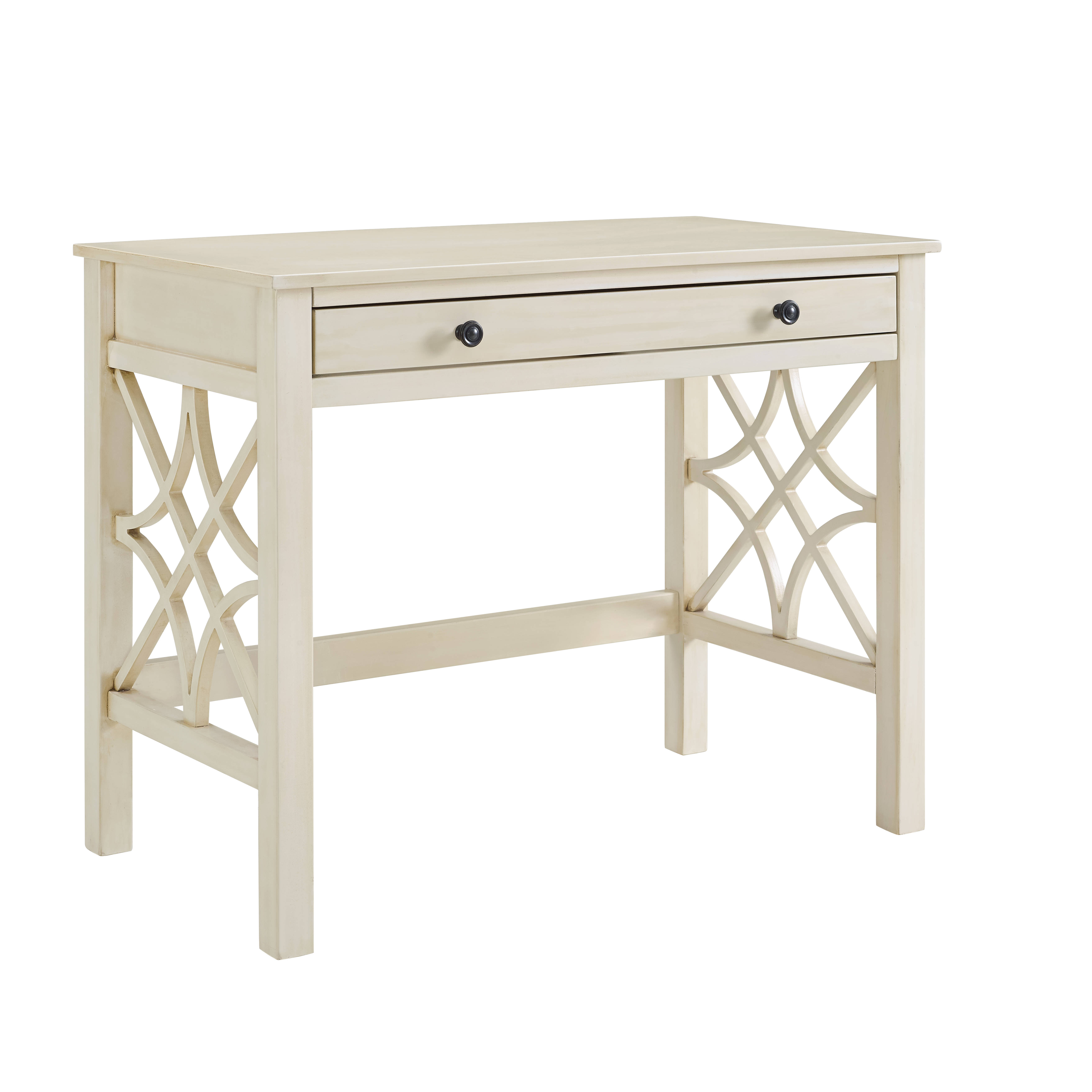 Linon whitley antique white office furniture set the classy home - Antique white home office furniture ...